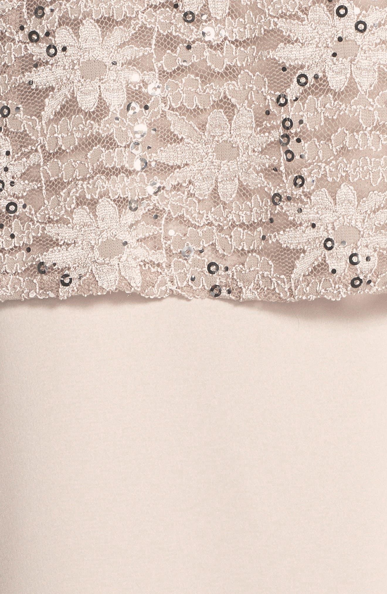 Alex Evening A-Line Gown & Lace Jacket,                             Alternate thumbnail 5, color,