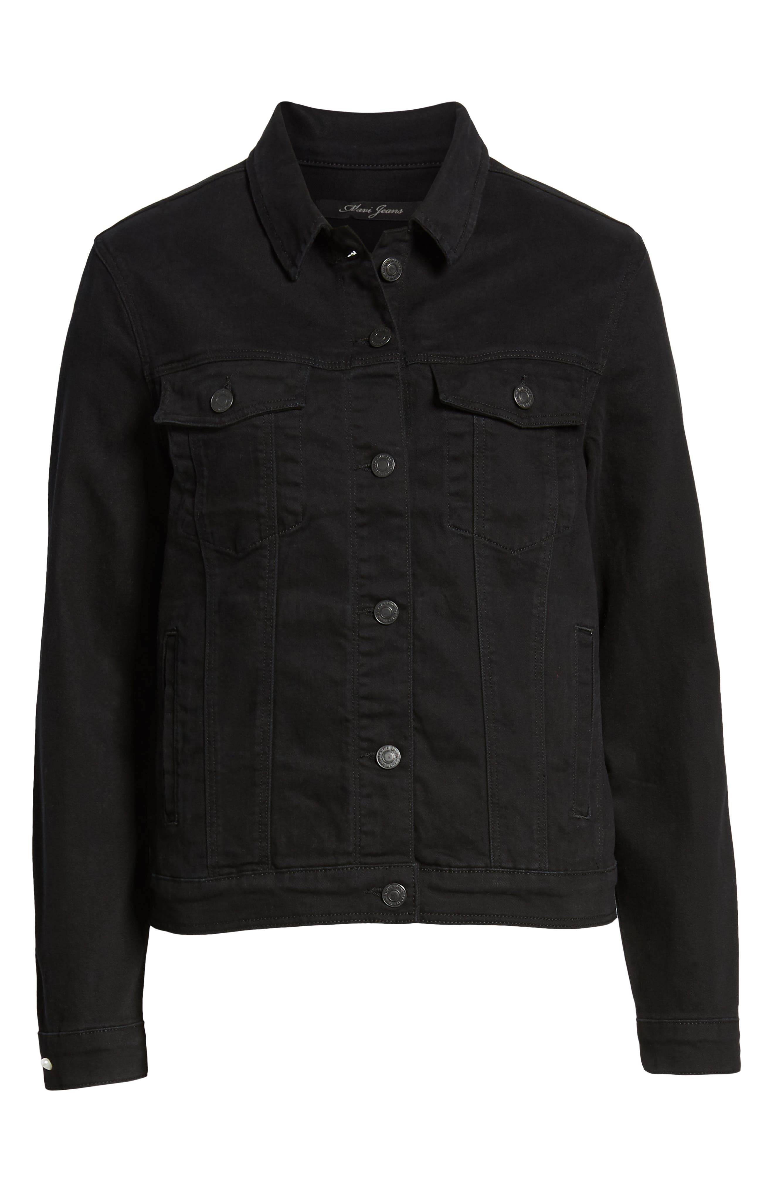Katy Black Comfort Jacket,                             Alternate thumbnail 4, color,                             001