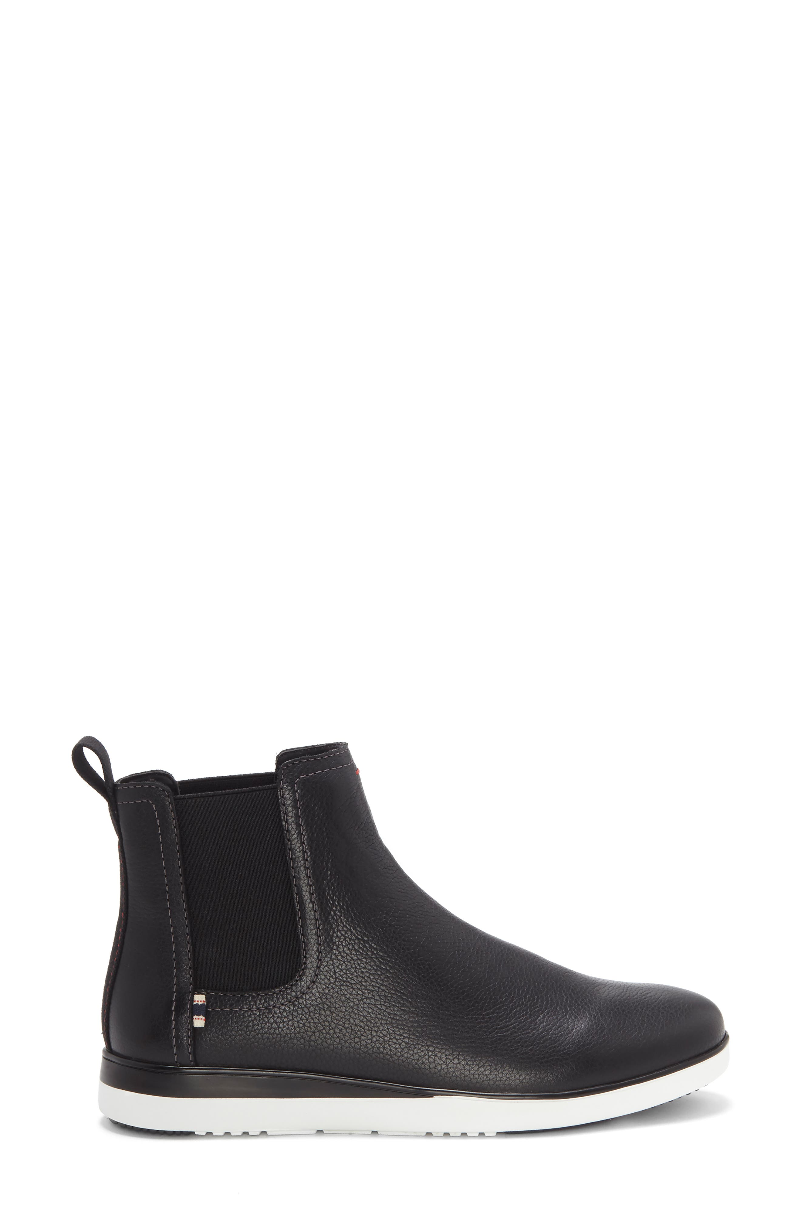 Alvarie Chelsea Bootie,                             Alternate thumbnail 3, color,                             BLACK LEATHER
