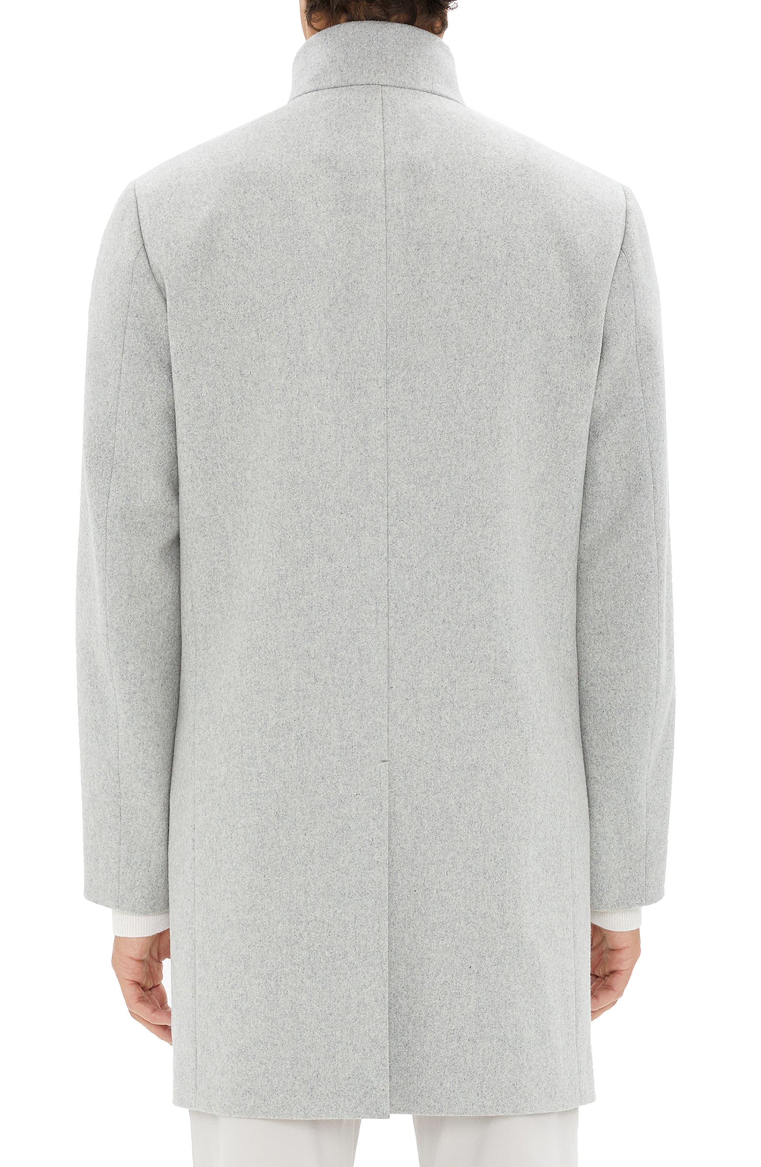 Belvin Modus Melton Wool Blend Coat,                             Alternate thumbnail 2, color,                             GREY MELANGE