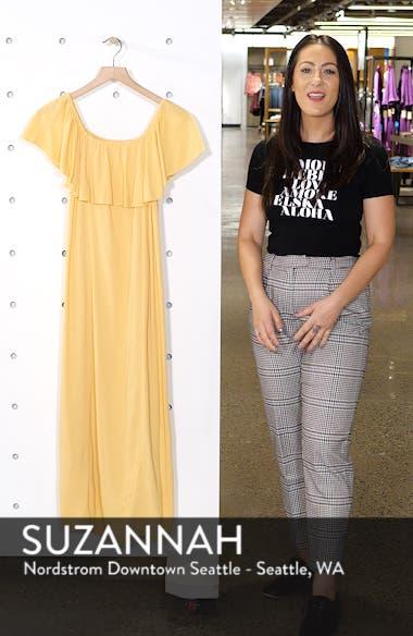 Vista Del Valle Off the Shoulder Ruffle Maxi Dress, sales video thumbnail