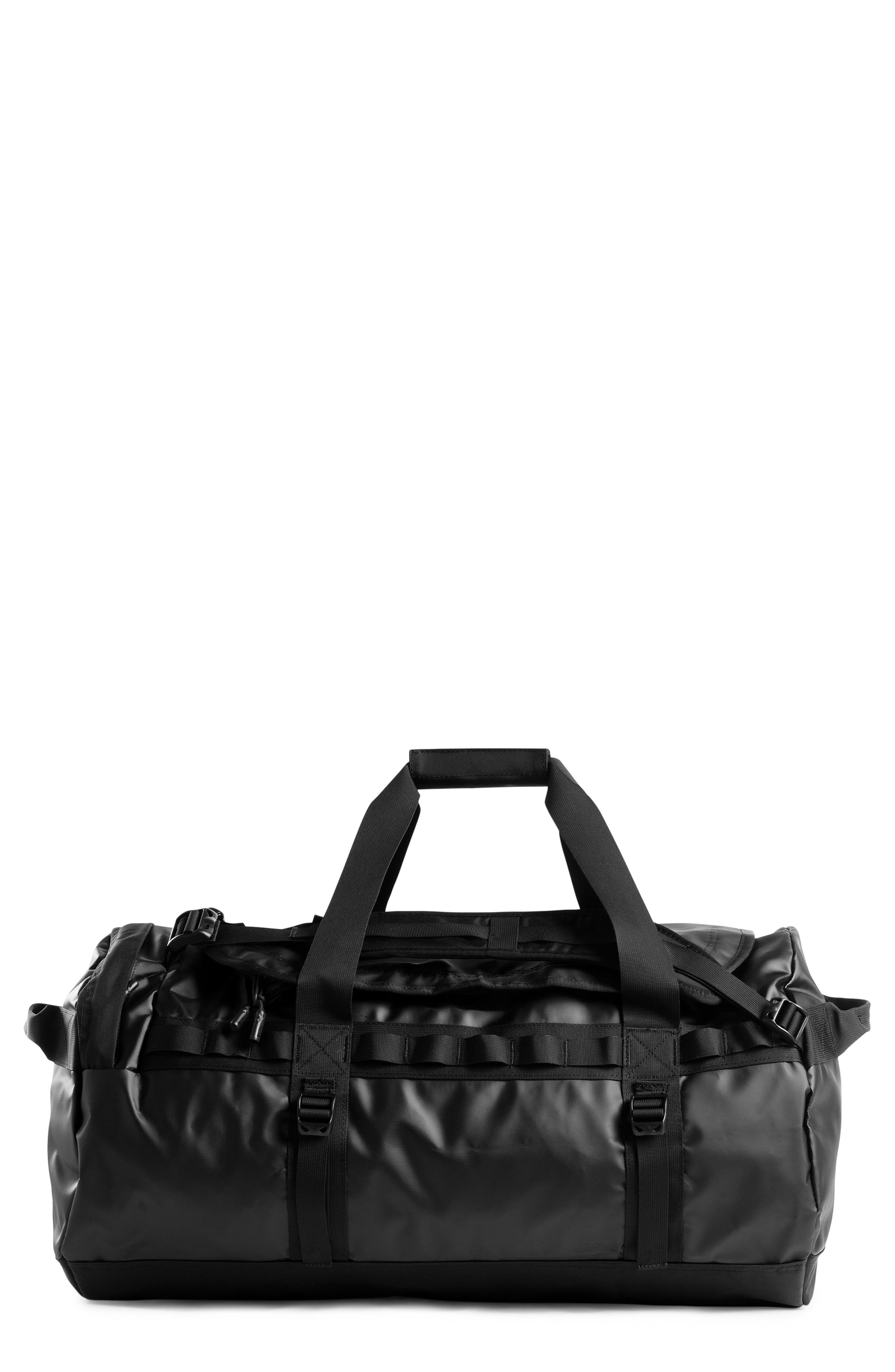 Base Camp Water Resistant Duffel Bag,                         Main,                         color, TNF BLACK/ METALLIC COPPER