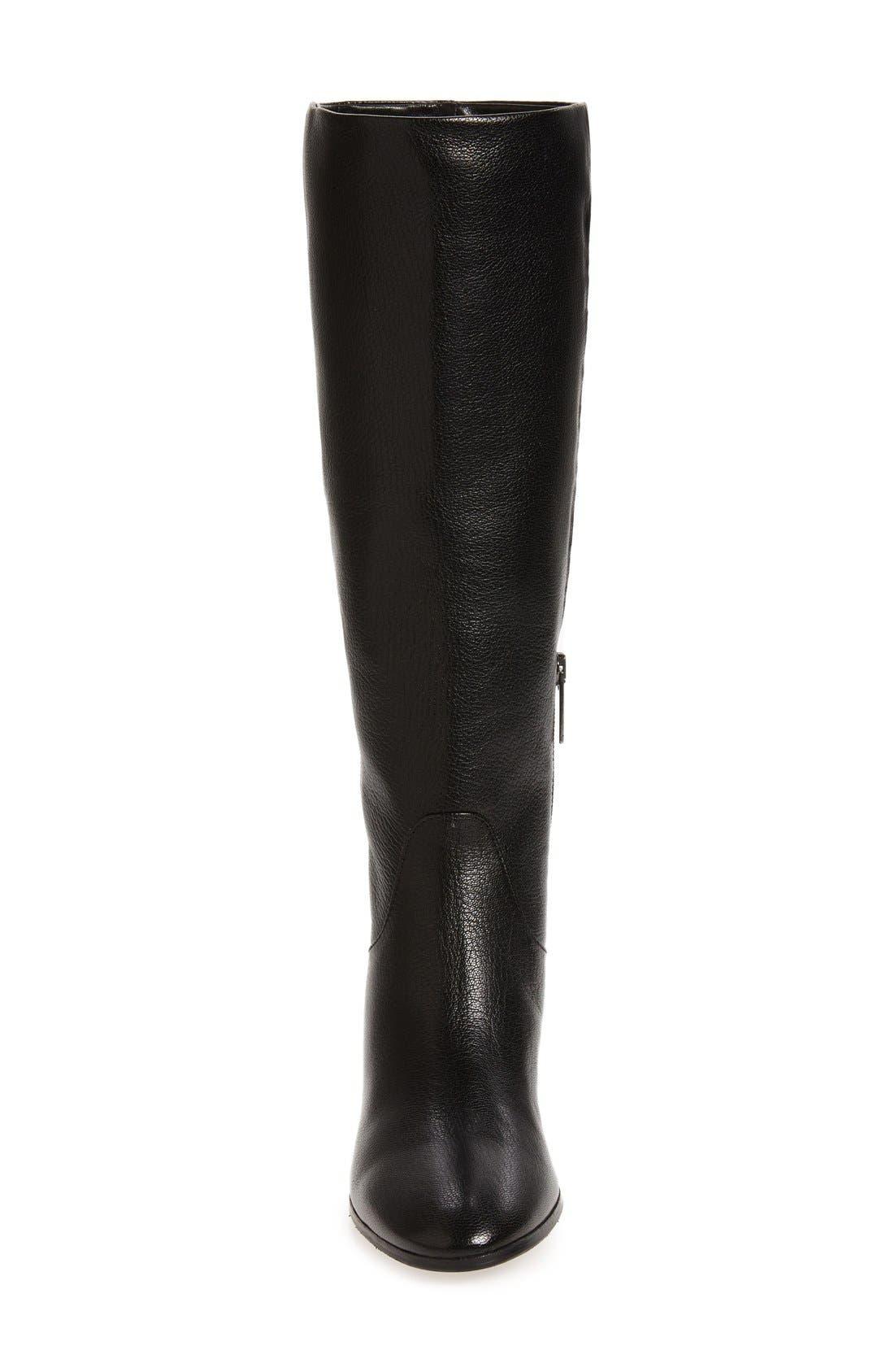 AQUATALIA,                             Deanna Weatherproof Knee High Boot,                             Alternate thumbnail 3, color,                             001