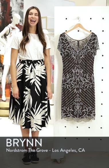Beaded Illusion Yoke Sheath Dress, sales video thumbnail