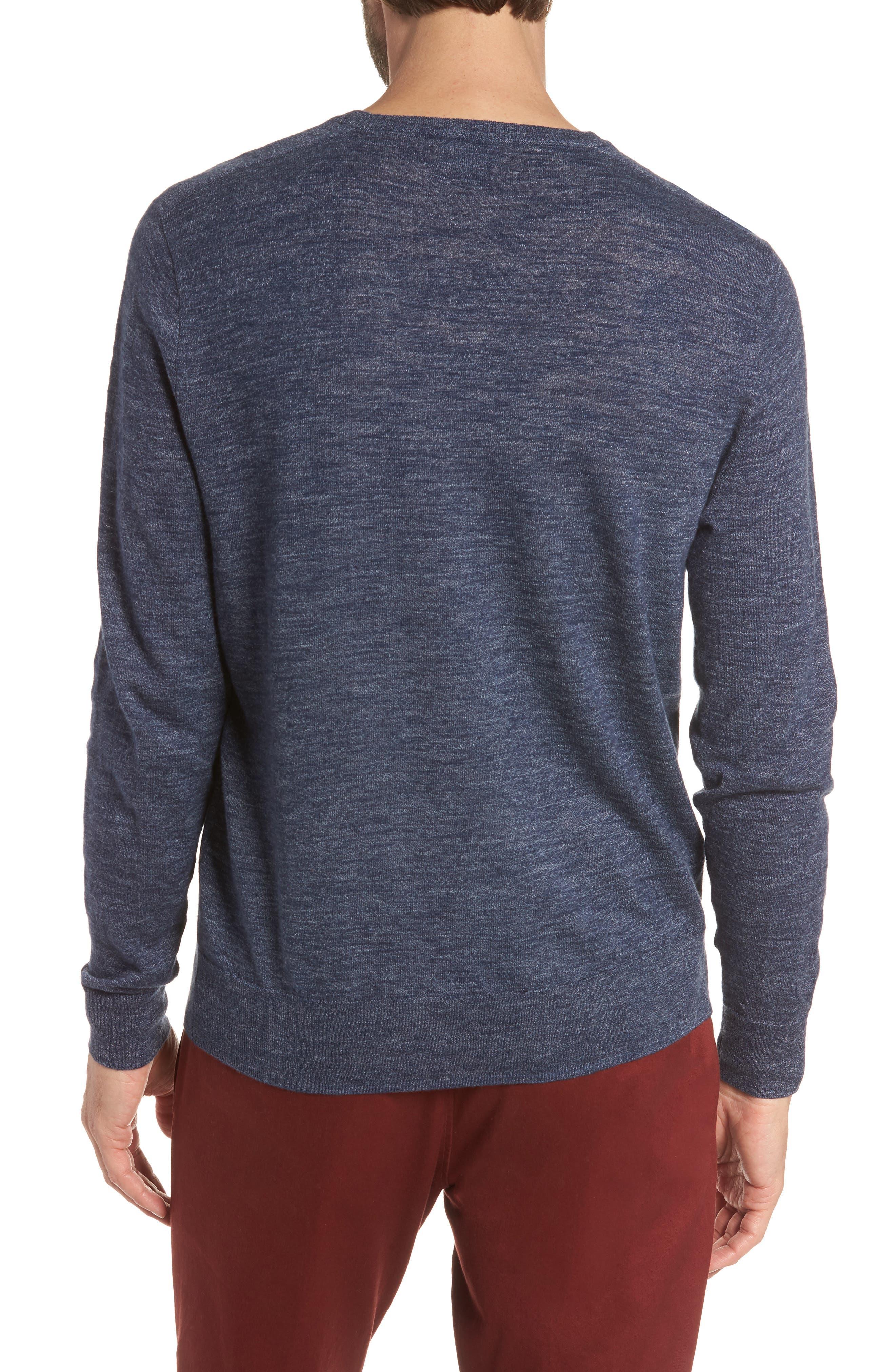 Cotton Blend Crewneck Sweater,                             Alternate thumbnail 7, color,