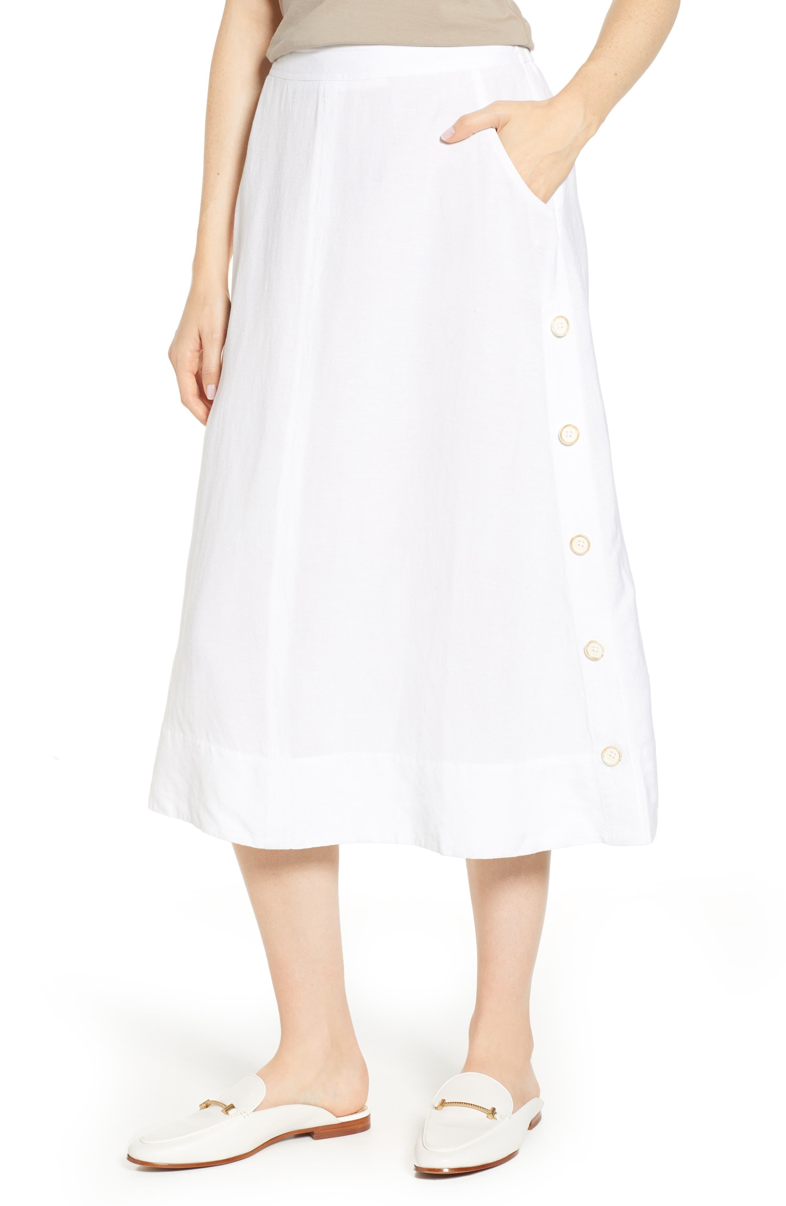 Front Runner Skirt,                             Main thumbnail 1, color,                             PAPER WHITE