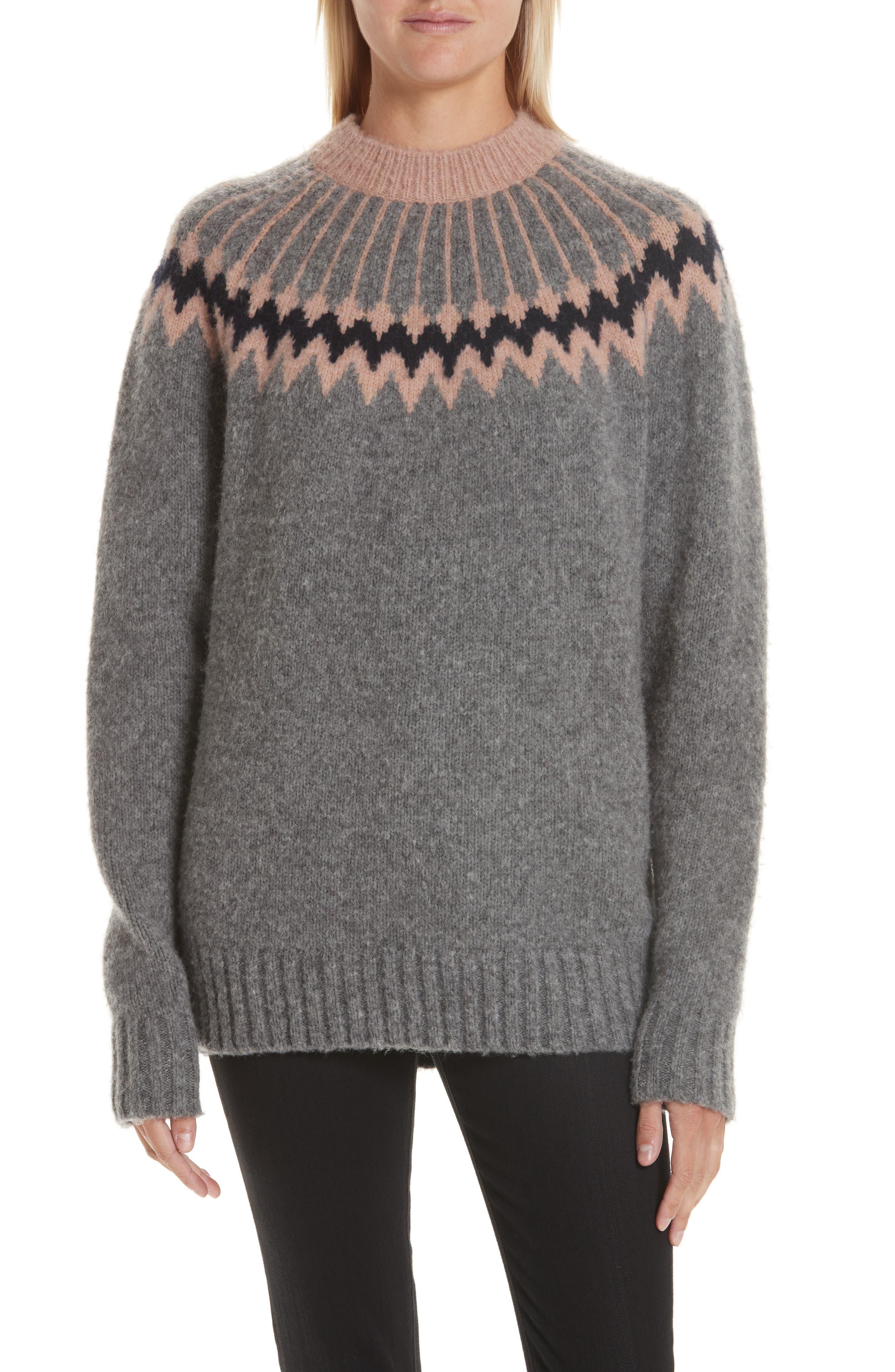 GREY JASON WU Olympia Wool Blend Sweater in Gravel