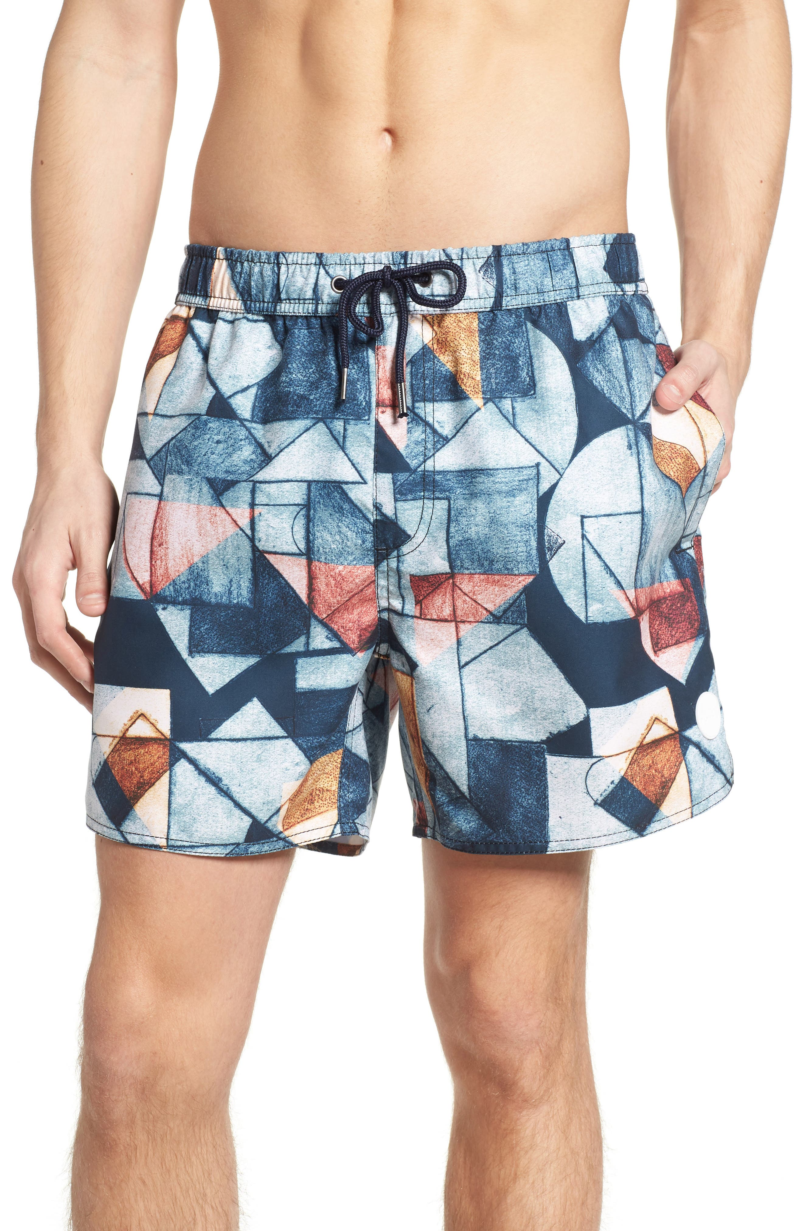 NATIVE YOUTH,                             Olio Etch Swim Trunks,                             Main thumbnail 1, color,                             400