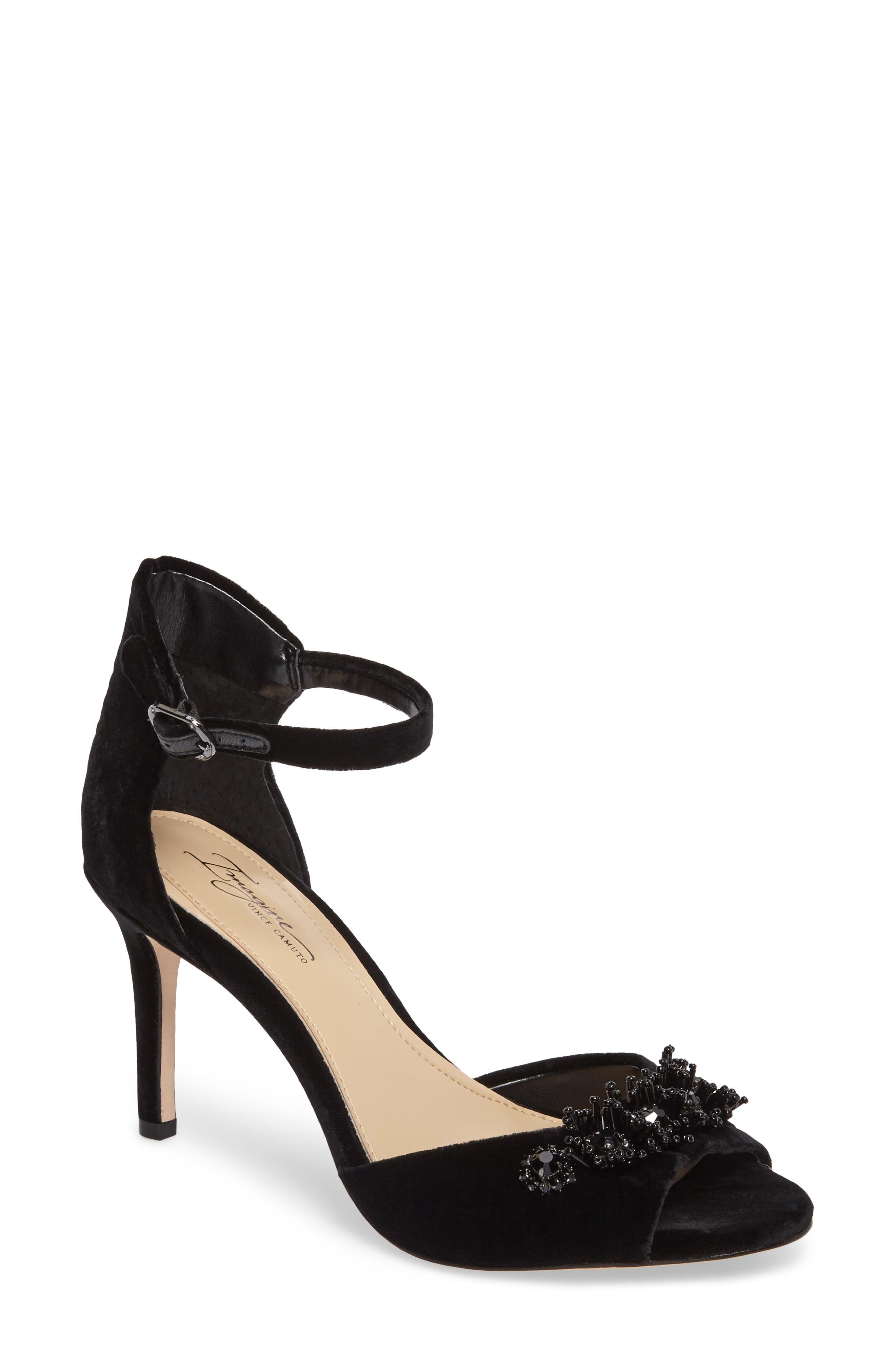 Prisca Embellished Sandal,                         Main,                         color, 001
