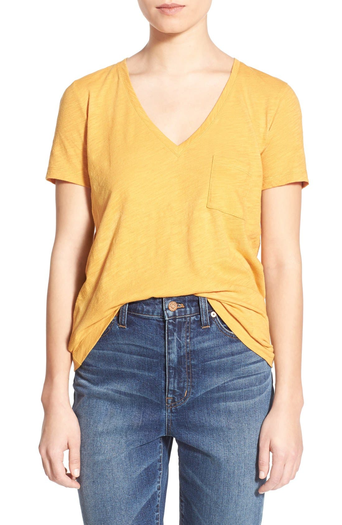 Whisper Cotton V-Neck Pocket Tee,                             Main thumbnail 39, color,
