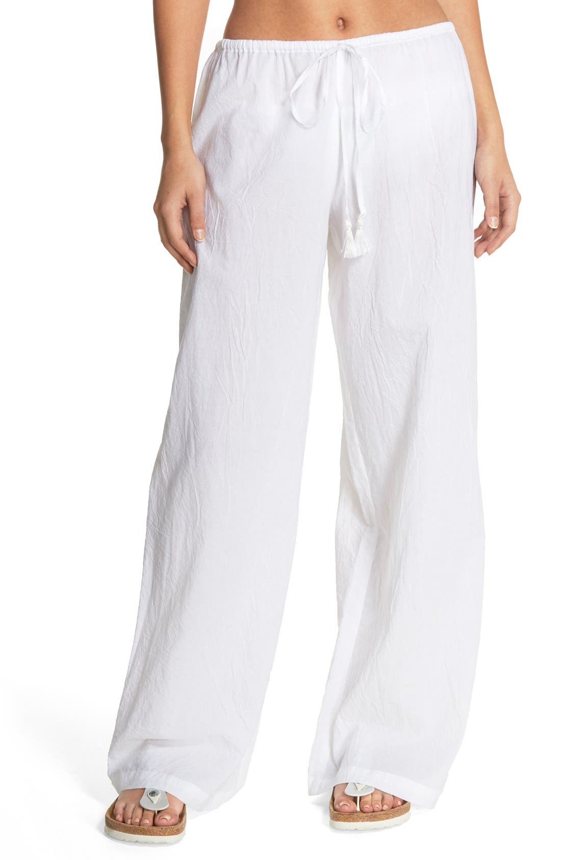 Cover-Up Pants,                         Main,                         color, WHITE