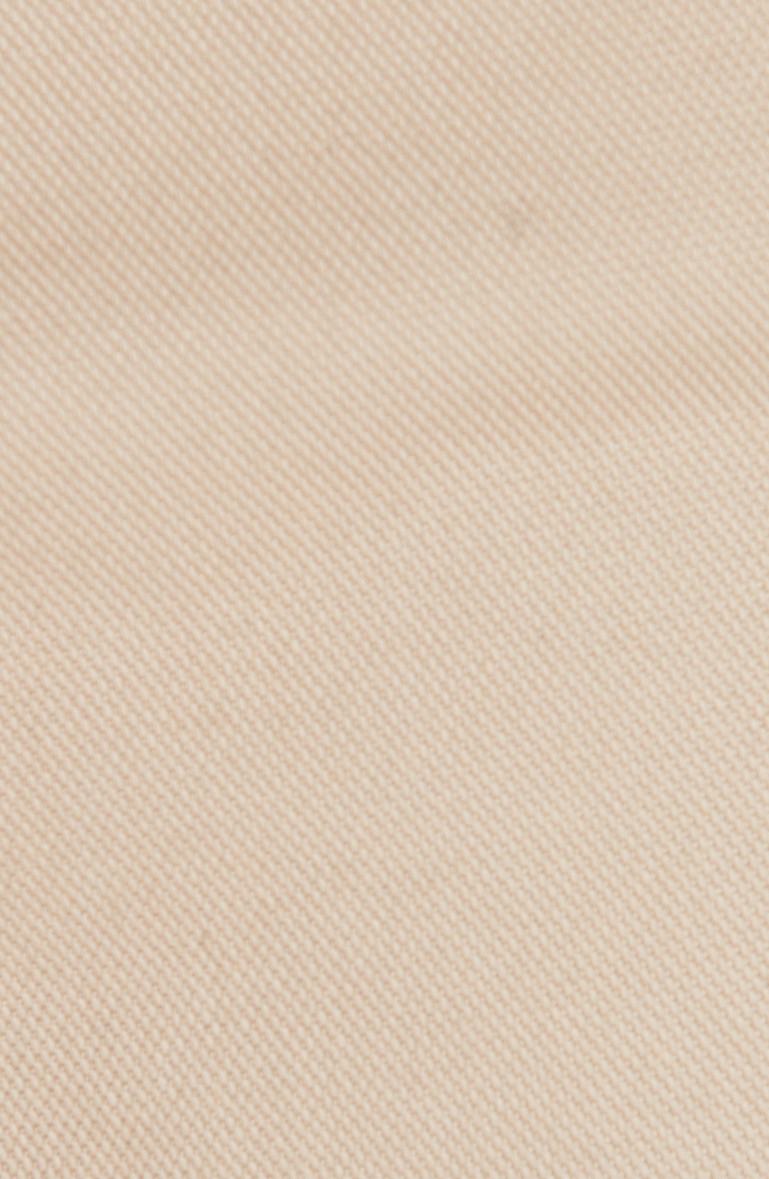 Stretch Cotton Five Pocket Pants,                             Alternate thumbnail 5, color,                             LIGHT BEIGE
