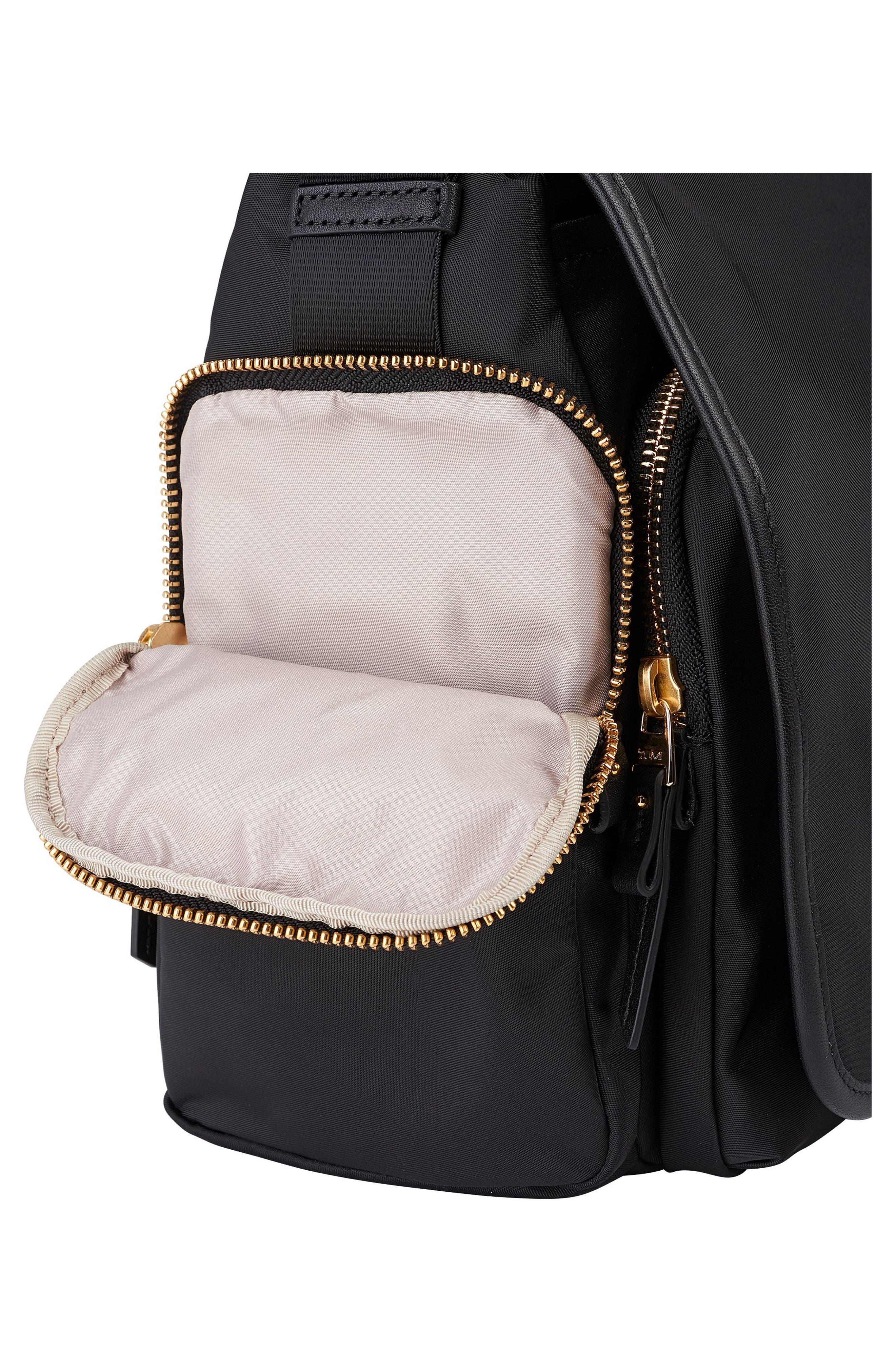 Lola Nylon Crossbody Bag,                             Alternate thumbnail 6, color,                             001