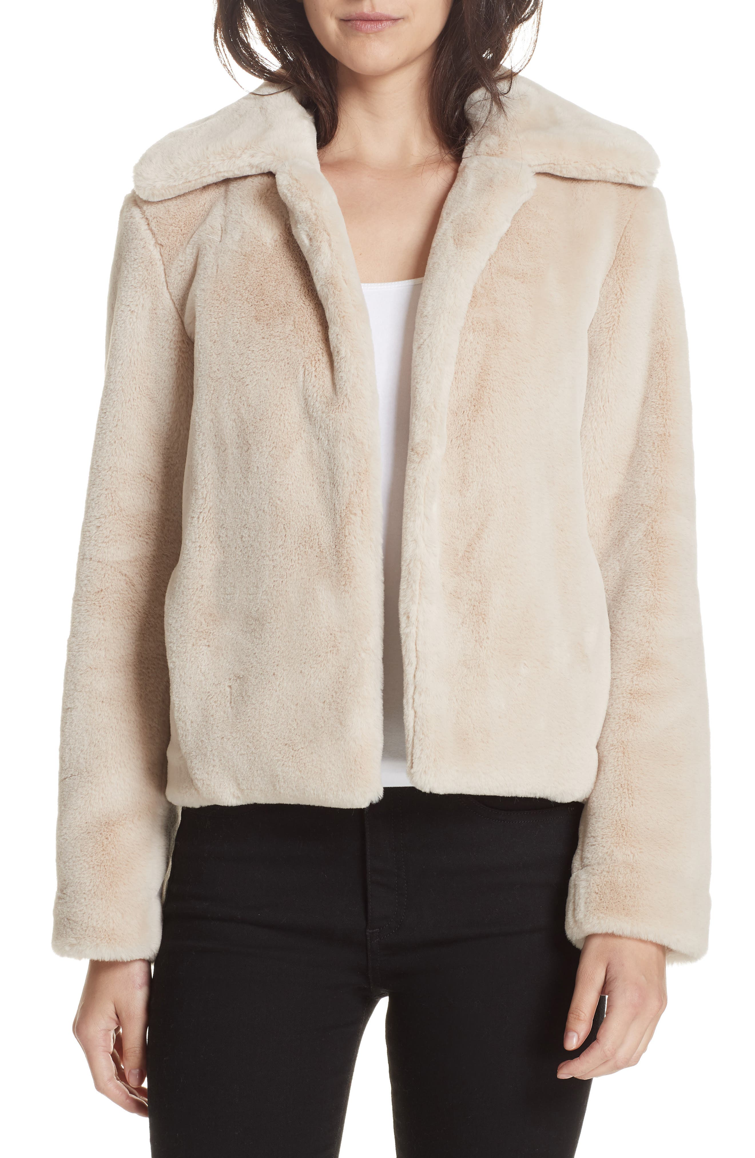 THEORY Faux Rabbit Fur Jacket, Main, color, 250