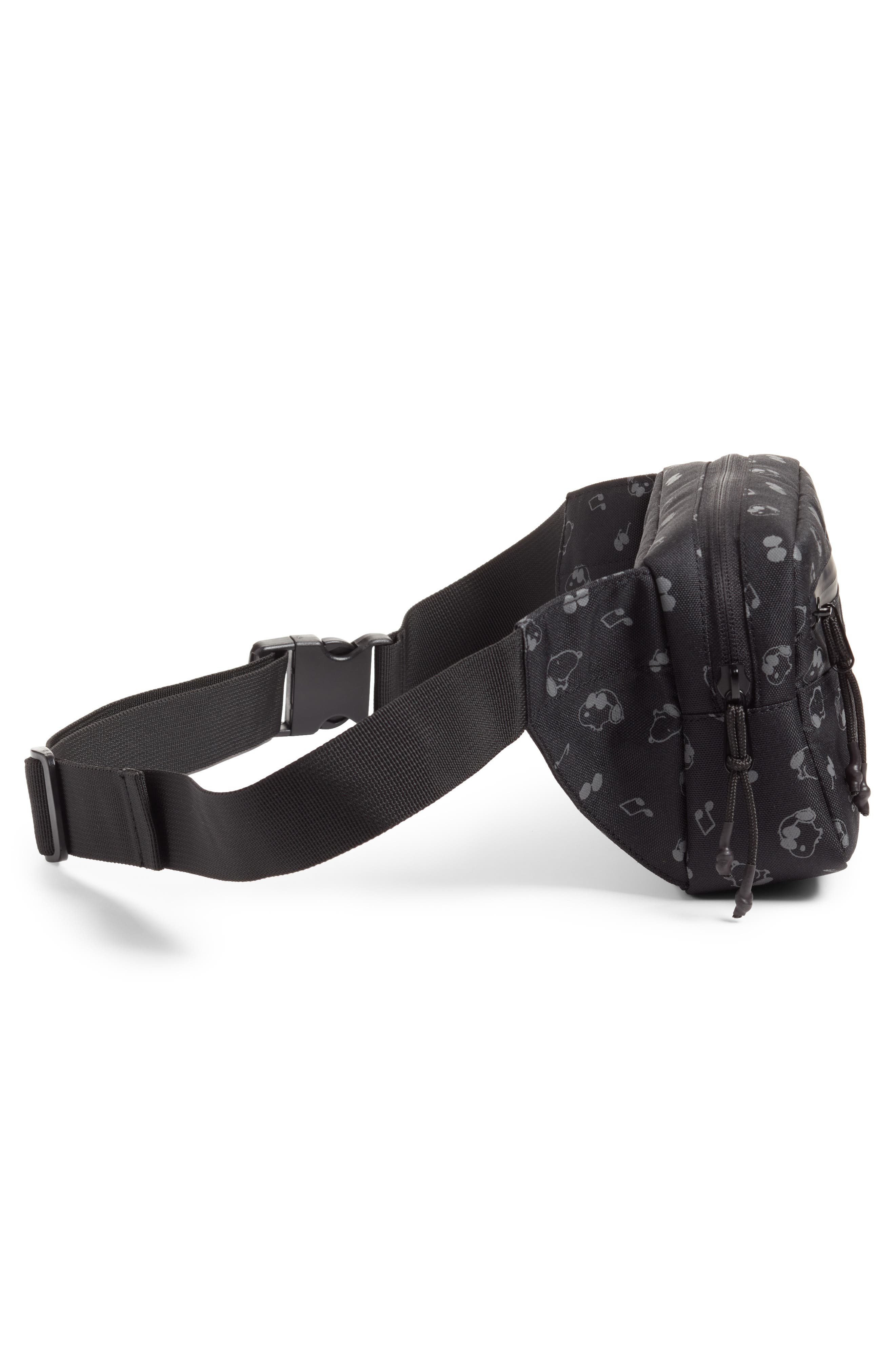 x Peanuts Water Resistant Waist Pack,                             Alternate thumbnail 4, color,                             001