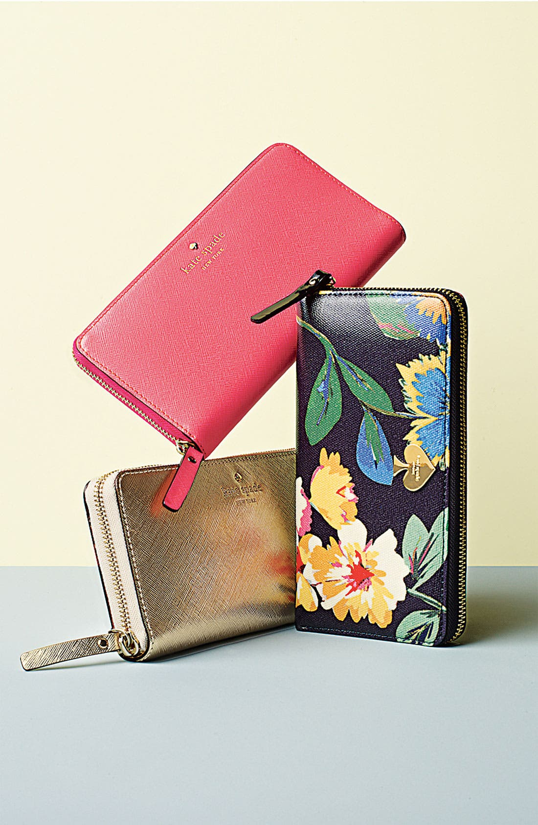 'mikas pond - lacey' zip around wallet,                             Alternate thumbnail 3, color,                             001