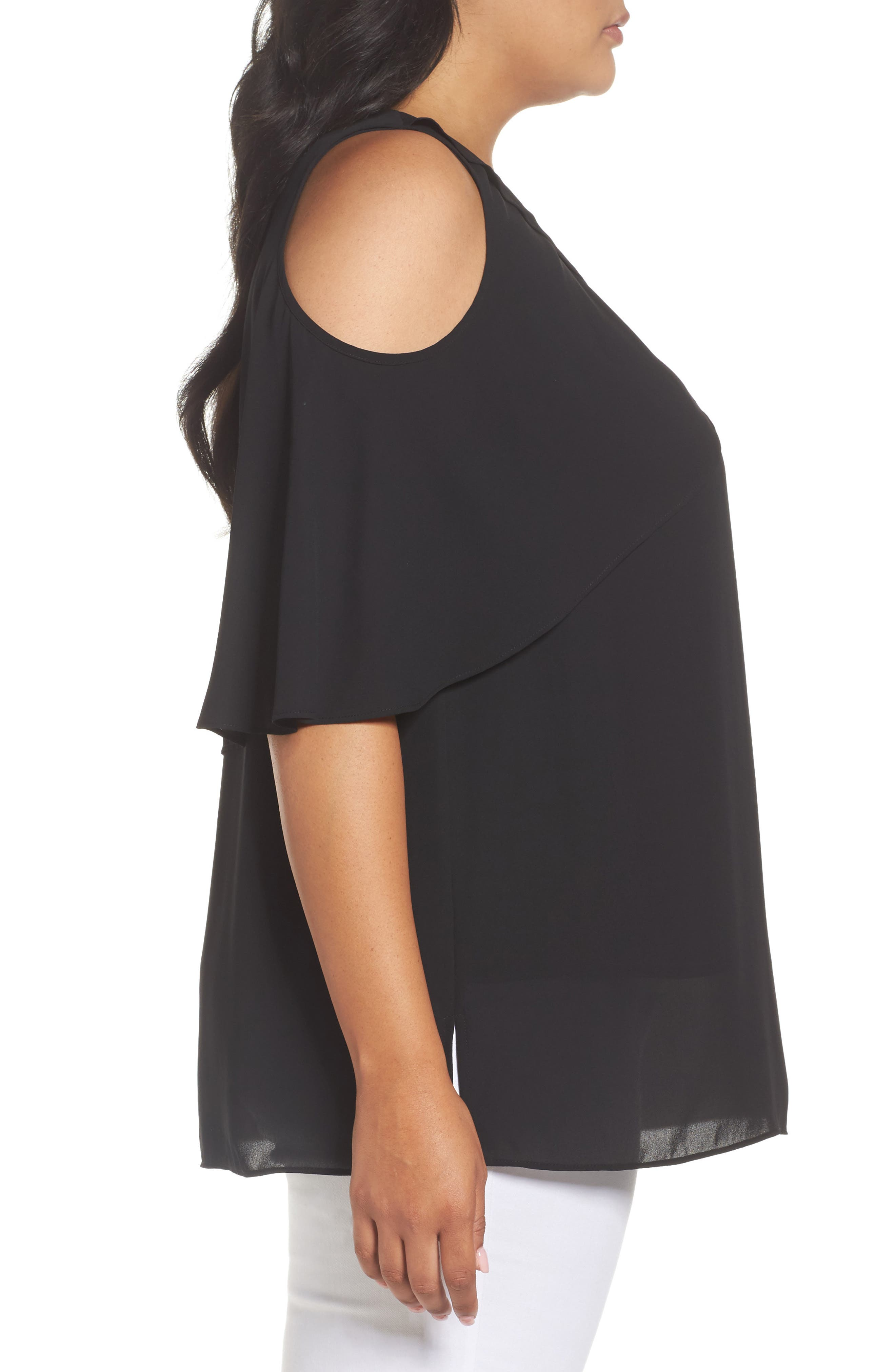 Cold Shoulder Ruffled Blouse,                             Alternate thumbnail 12, color,