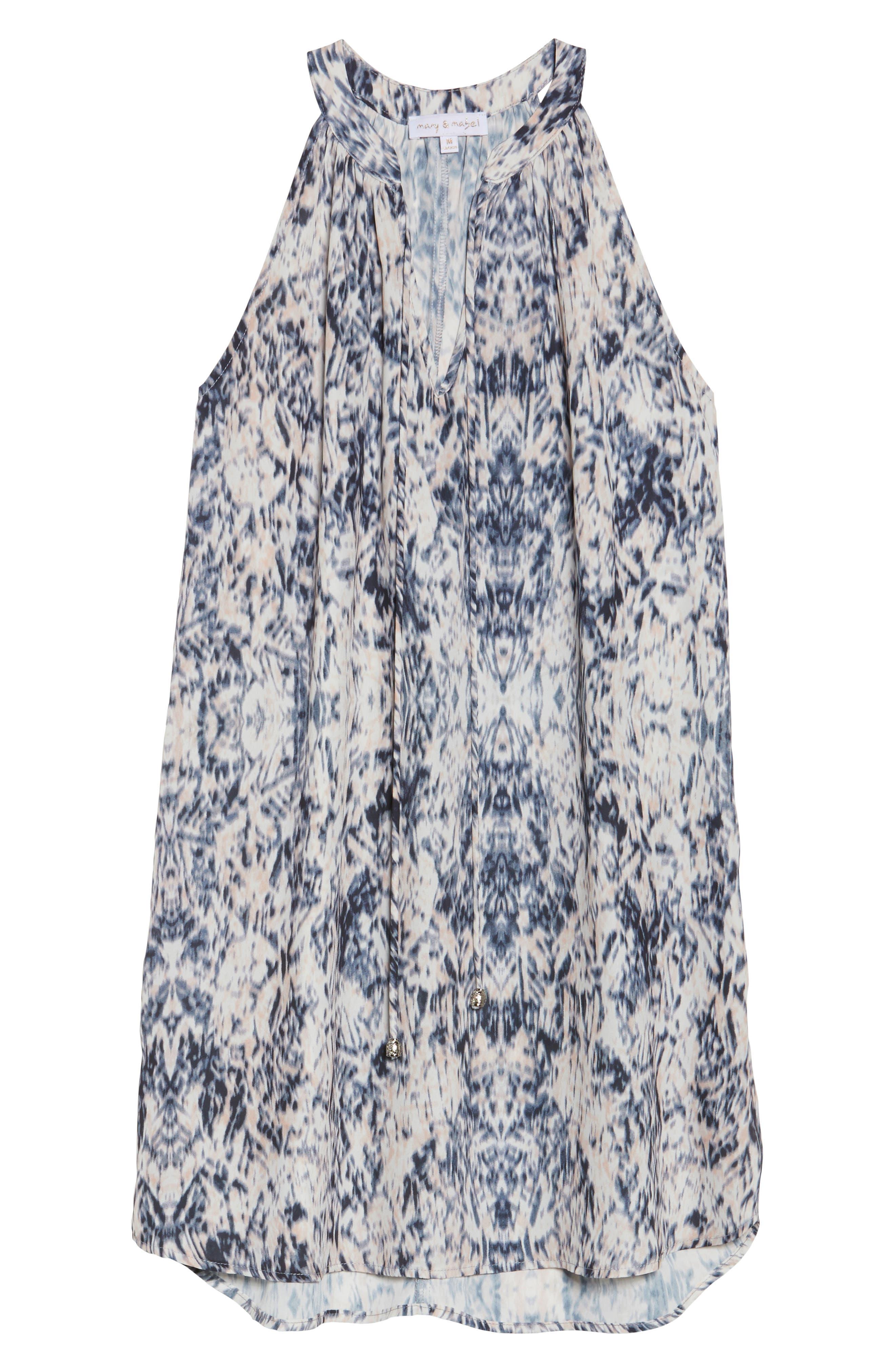 Tie Neck Sleeveless Dress,                             Alternate thumbnail 6, color,                             900