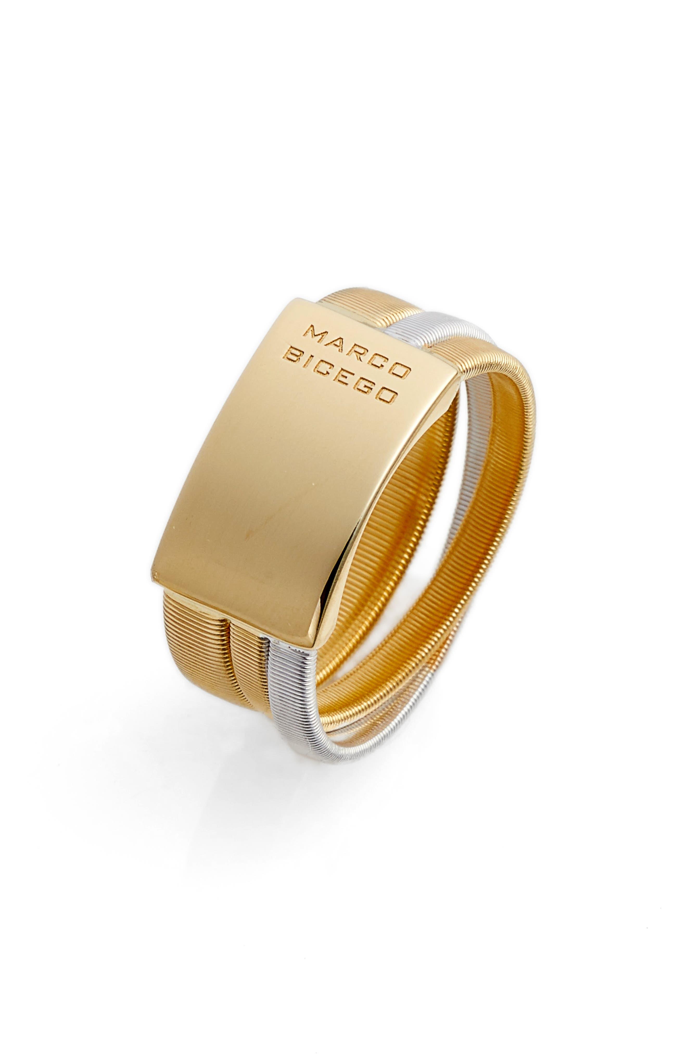 Masai Two-Tone Ring,                             Alternate thumbnail 3, color,                             YELLOW GOLD/ WHITE GOLD