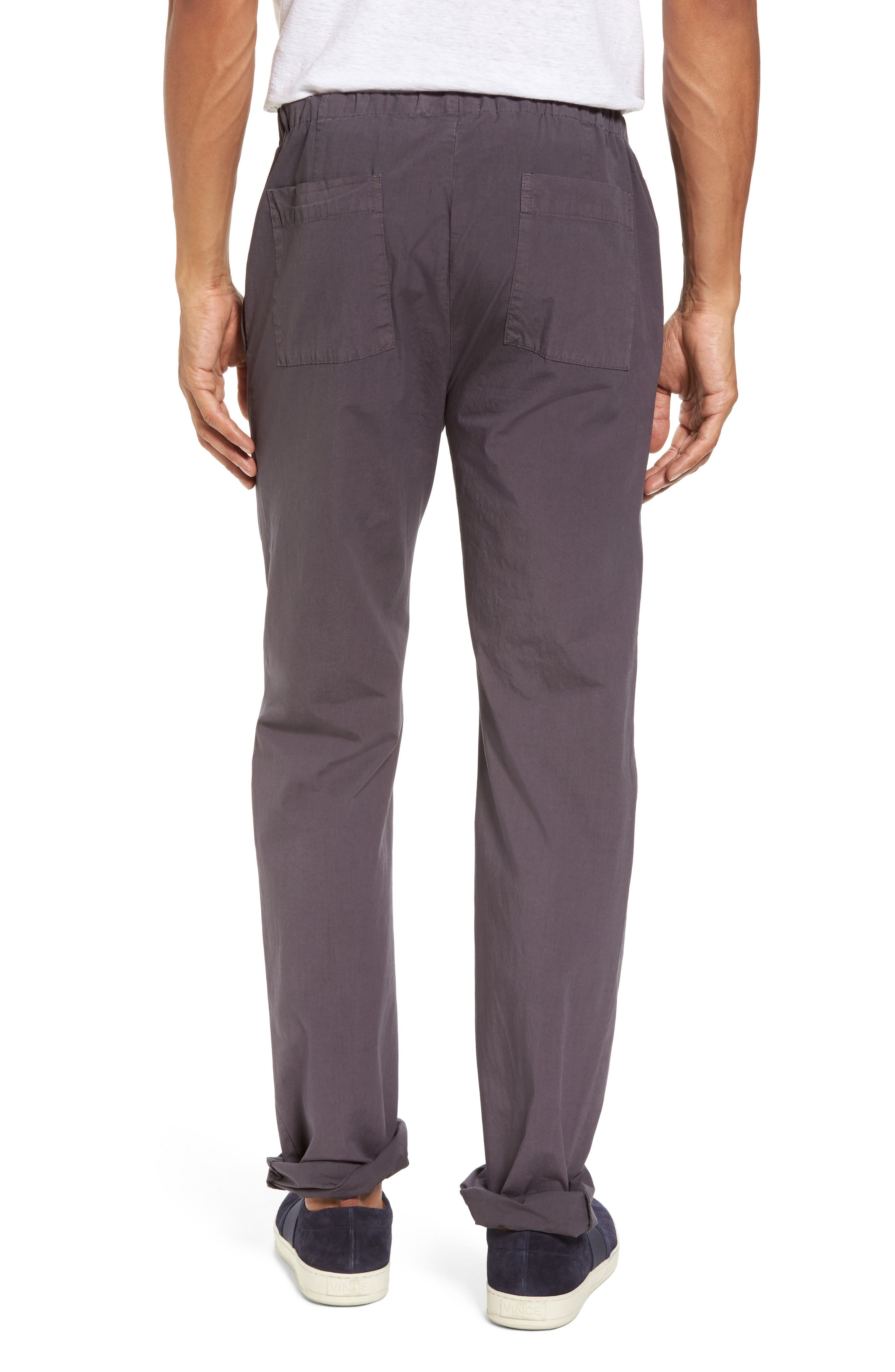 Slim Stretch Poplin Drawcord Pants,                             Alternate thumbnail 6, color,