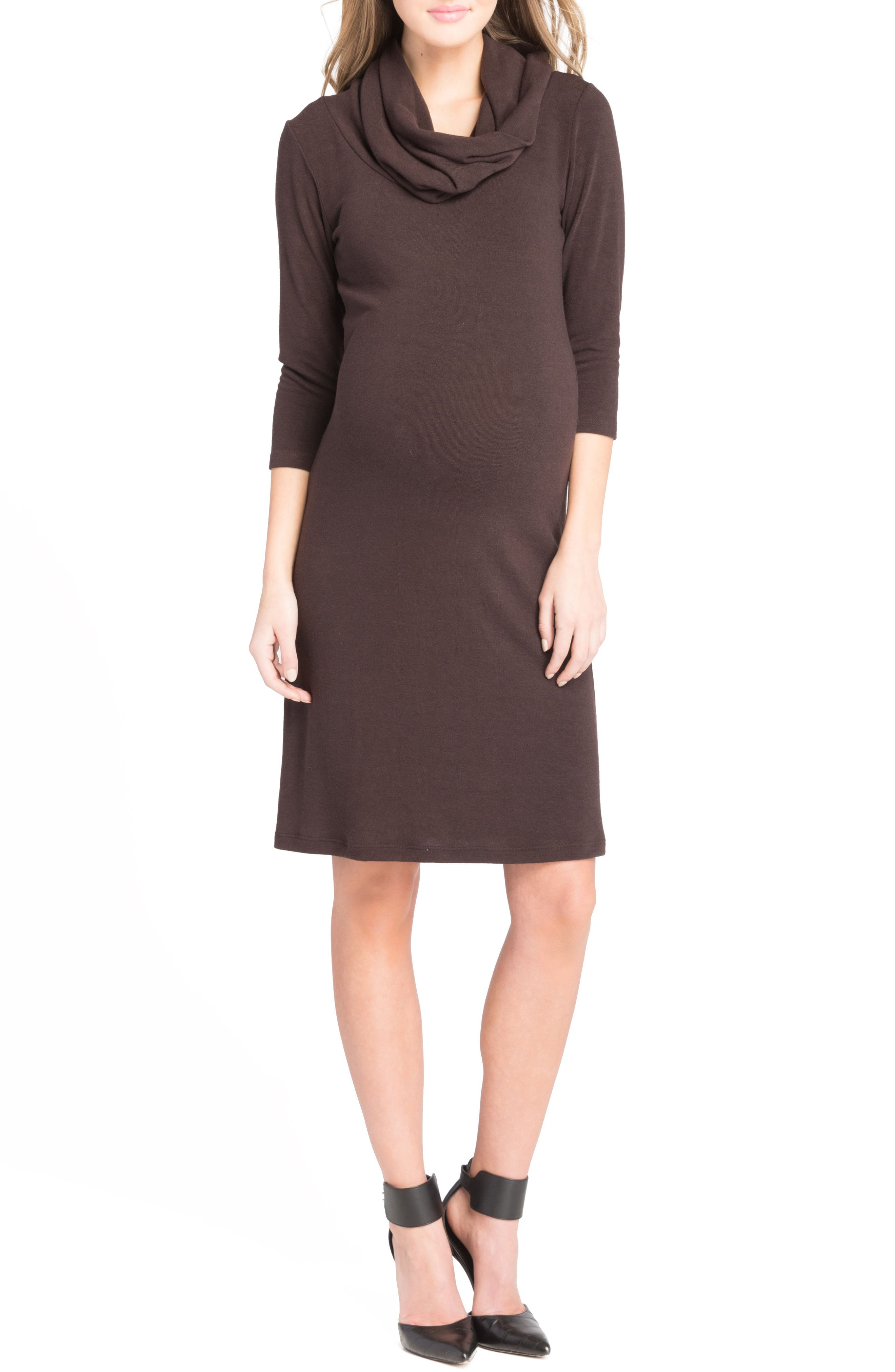 Cowl Neck Maternity Dress,                             Main thumbnail 2, color,