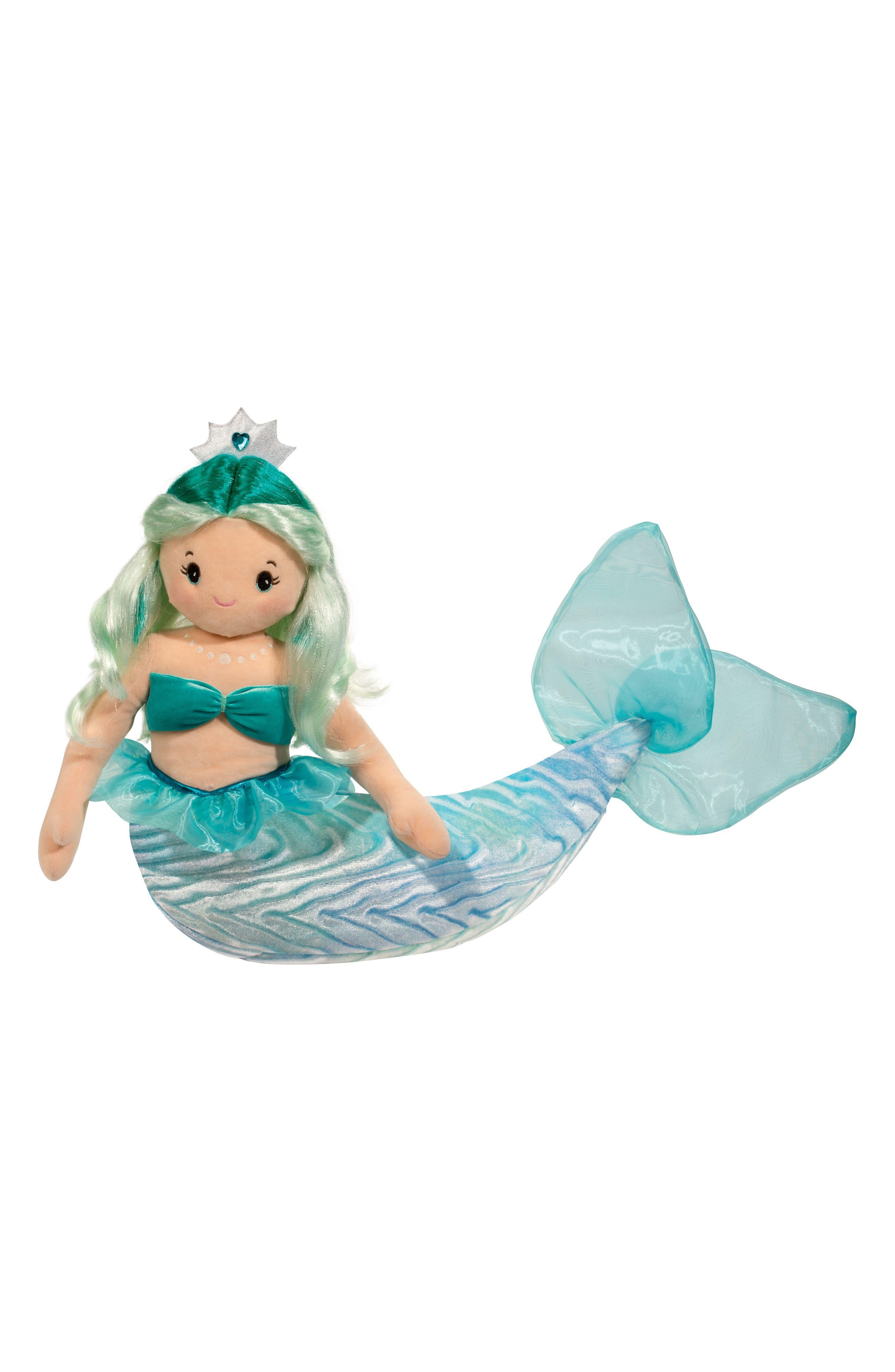 Ciara - Extra Large Aqua Mermaid Doll,                             Main thumbnail 1, color,