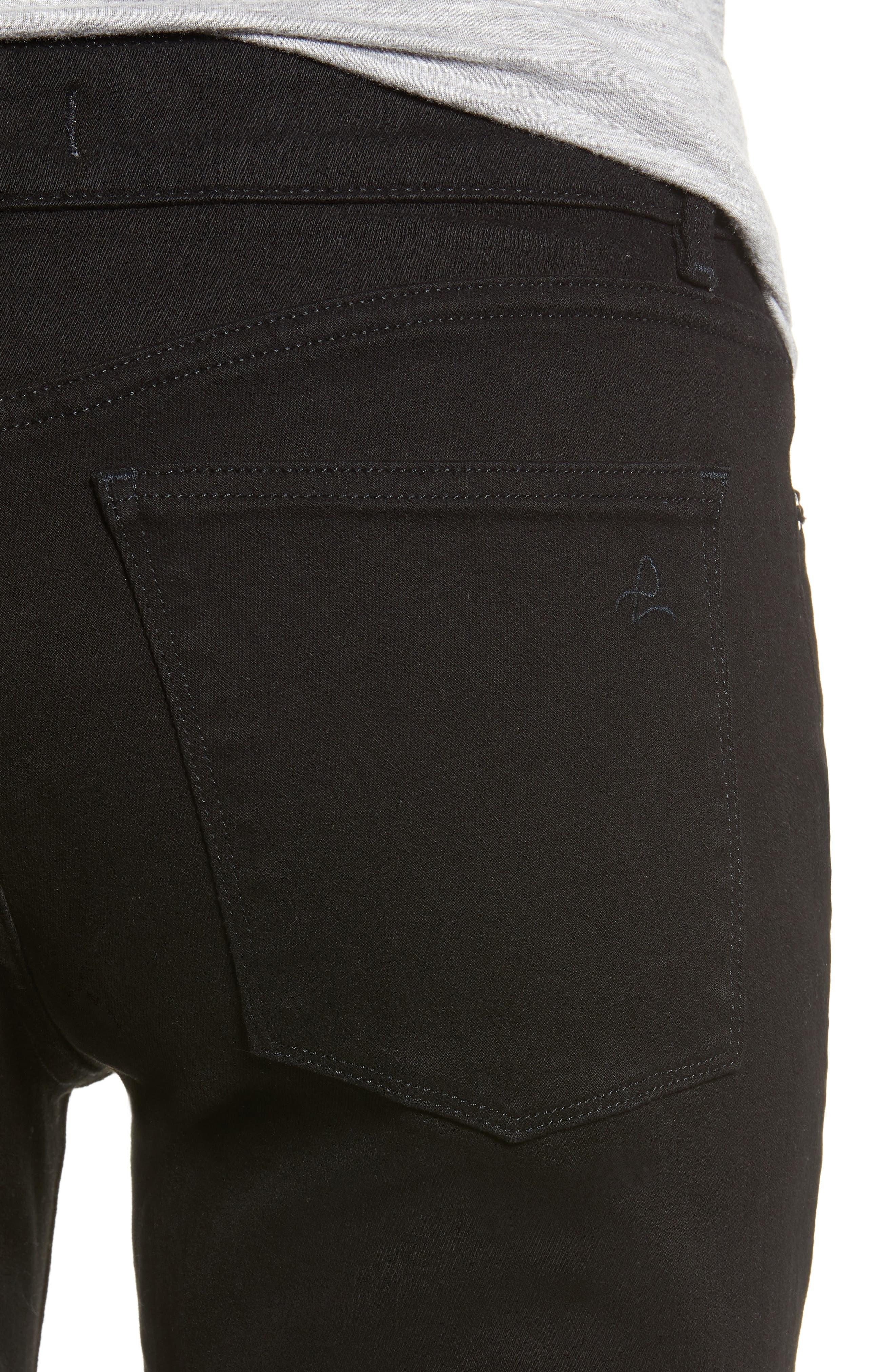 Lara Instasculpt High Waist Crop Flare Jeans,                             Alternate thumbnail 4, color,                             HENDERSON
