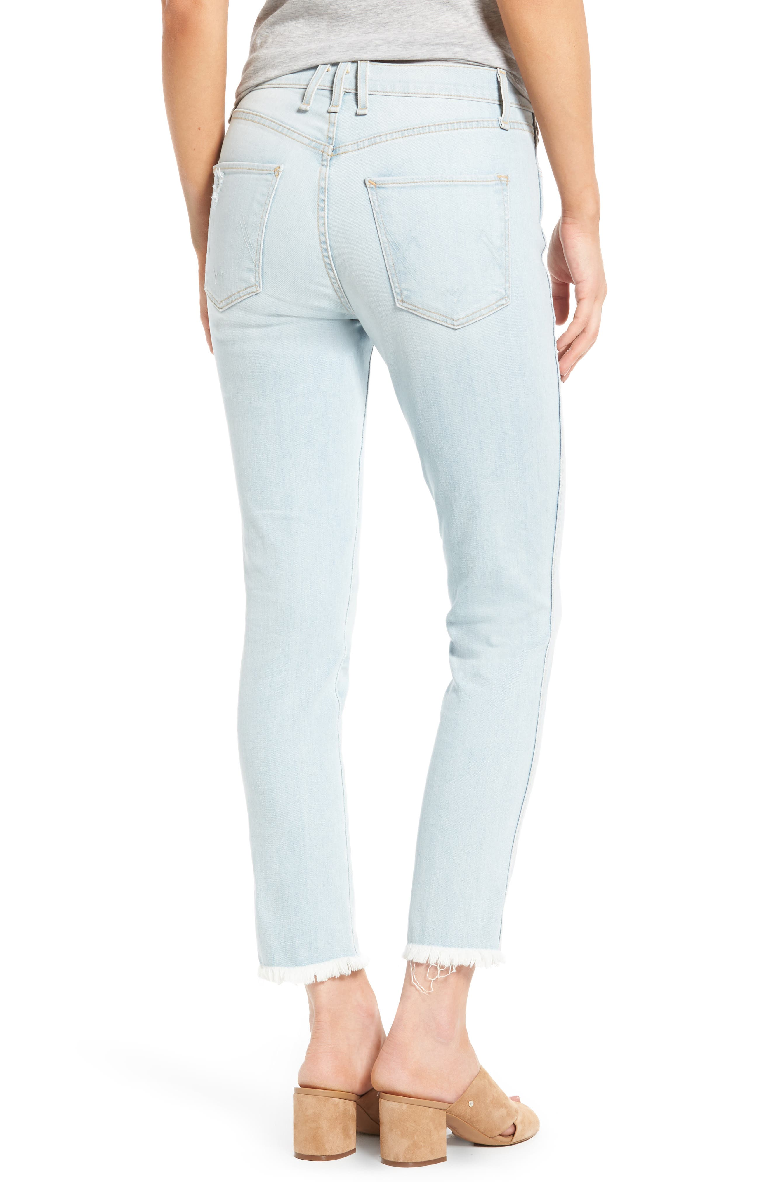 High Waist Crop Slim Jeans,                             Alternate thumbnail 2, color,