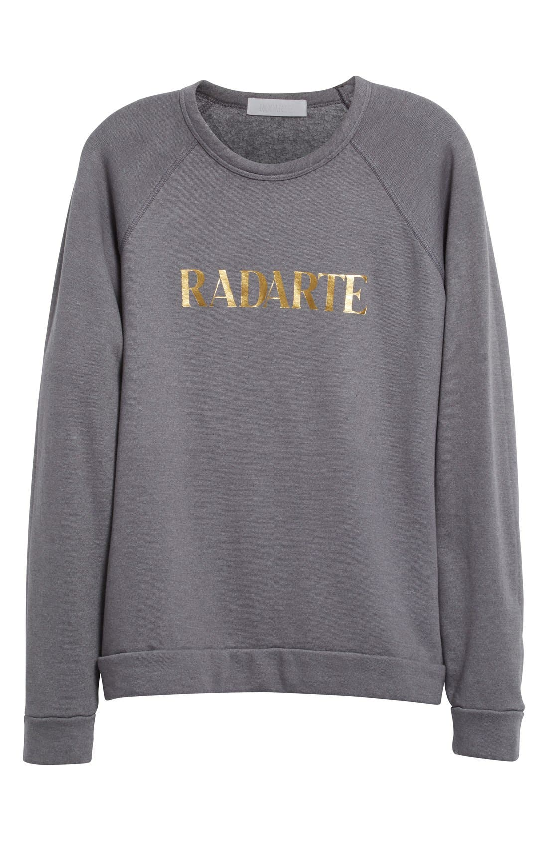 'Radarte' Foil Sweatshirt,                             Alternate thumbnail 5, color,                             022