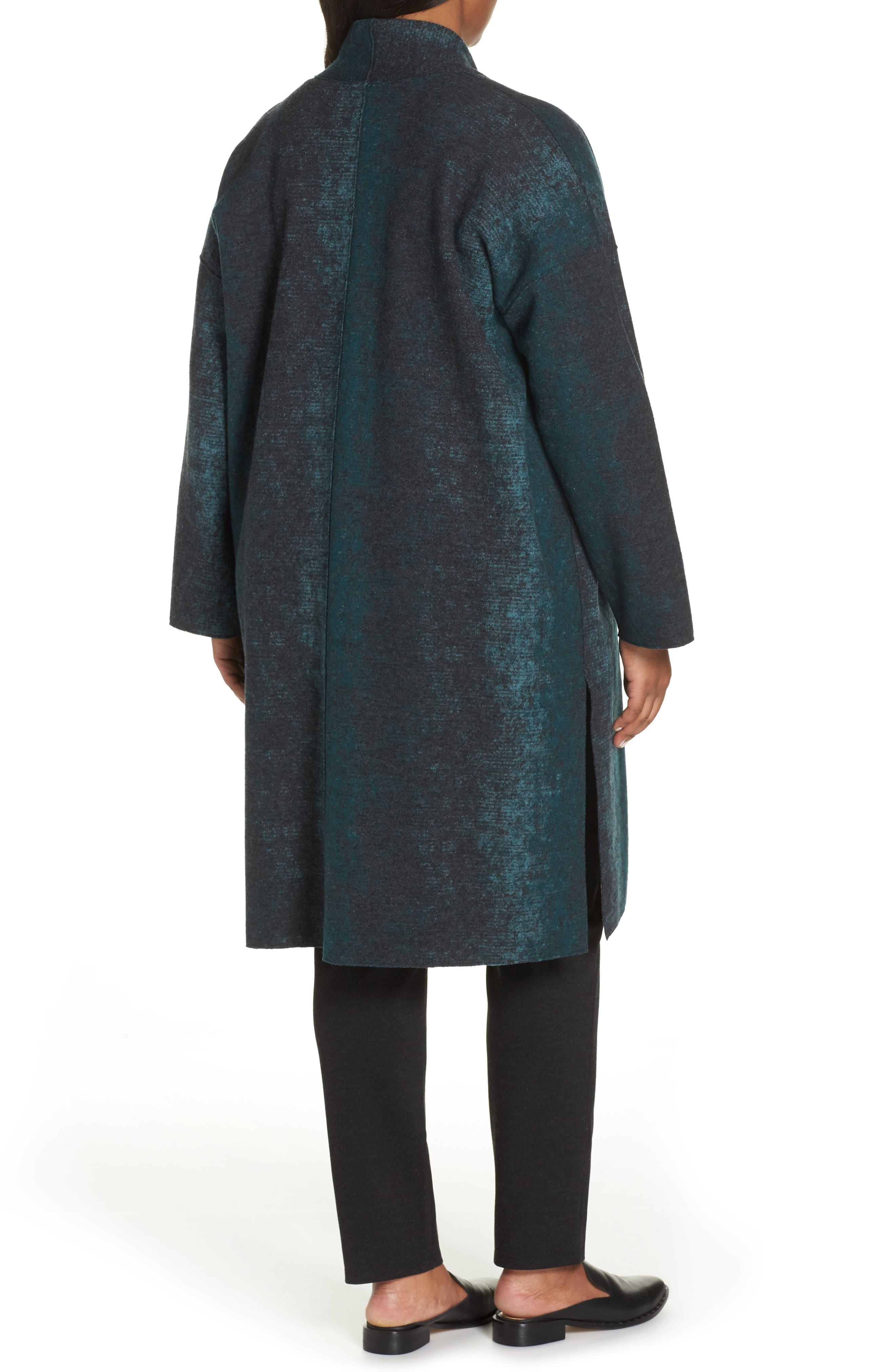 Long Wool Blend Kimono Jacket,                             Alternate thumbnail 2, color,                             PINE