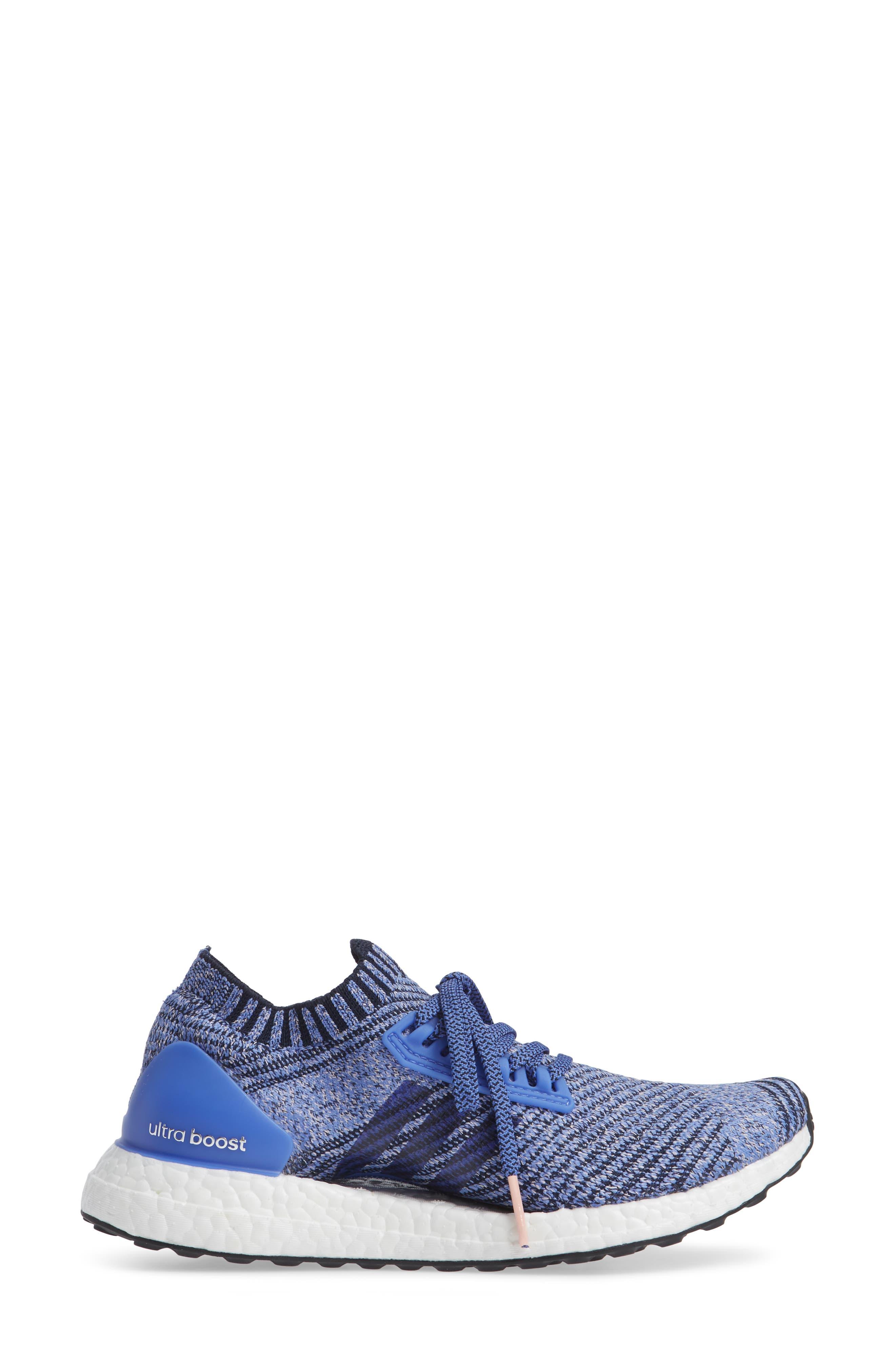 UltraBoost X Running Shoe,                             Alternate thumbnail 3, color,                             REAL LILAC/ LEGEND INK/ BLACK