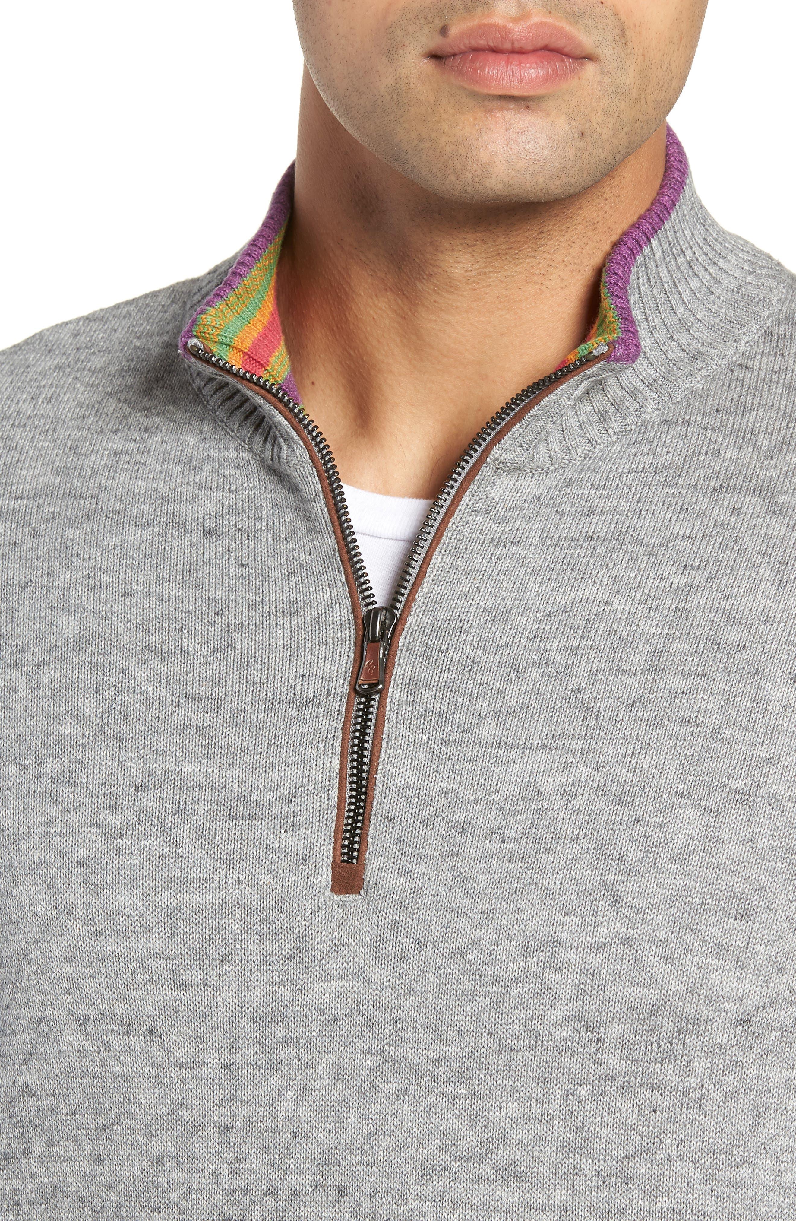 Cavalry Classic Fit Quarter Zip Sweater,                             Alternate thumbnail 4, color,                             032