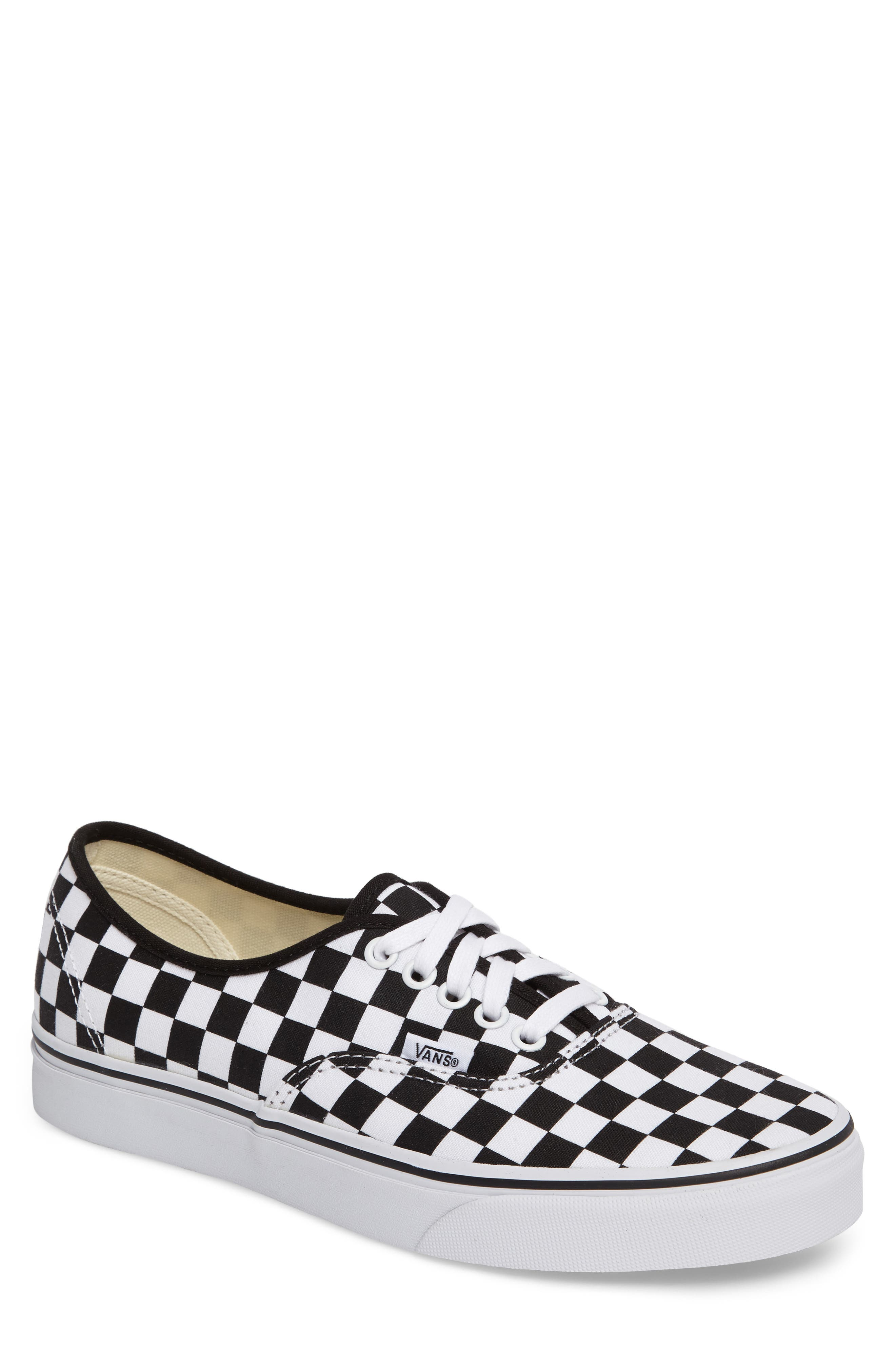Authentic Sneaker,                             Main thumbnail 1, color,                             BLACK/ WHITE CHECKERBOARD