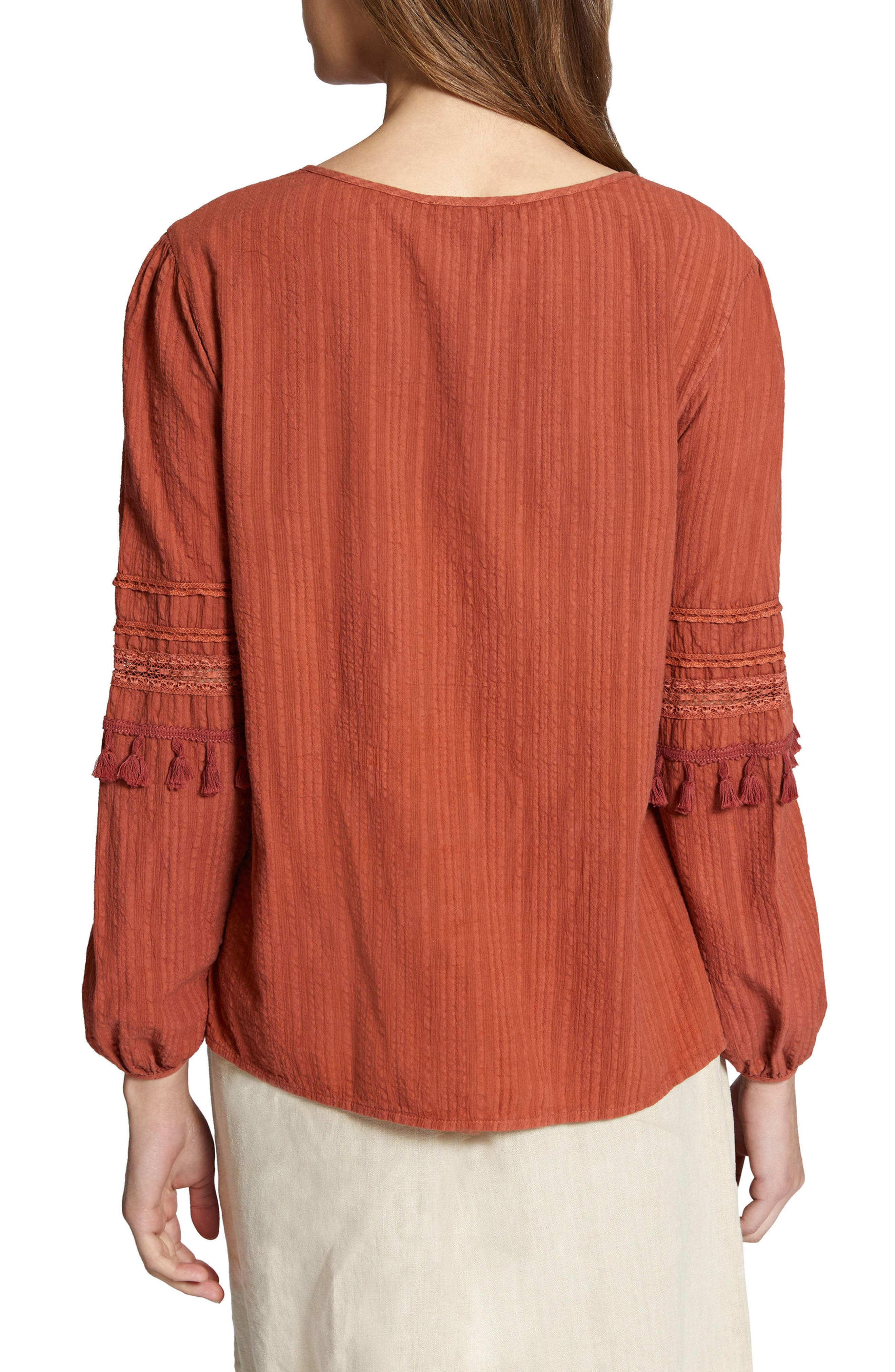 Red Rock Peasant Blouse,                             Alternate thumbnail 2, color,