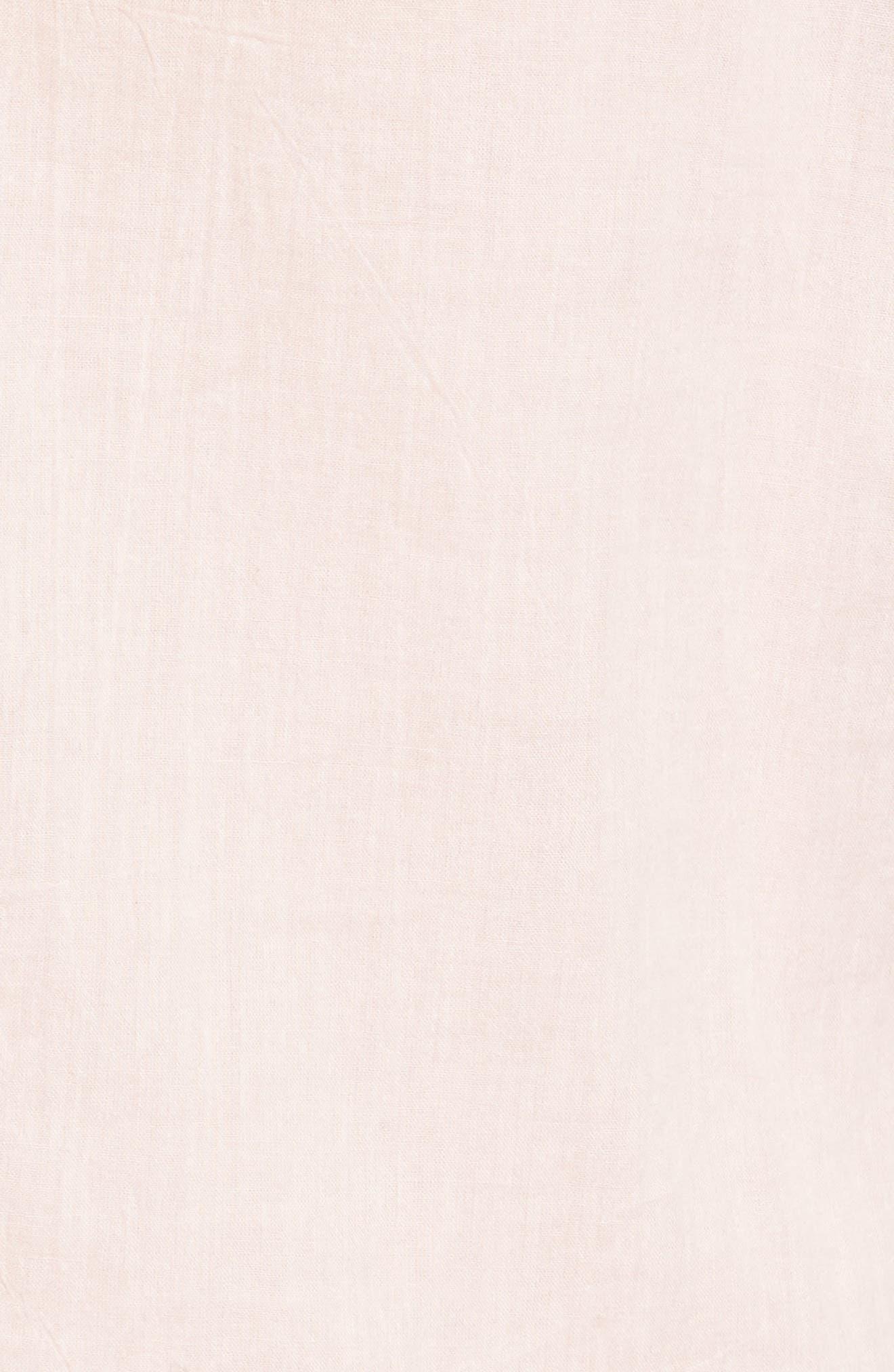 Cotton Lace Blouse,                             Alternate thumbnail 6, color,                             PALE PINK