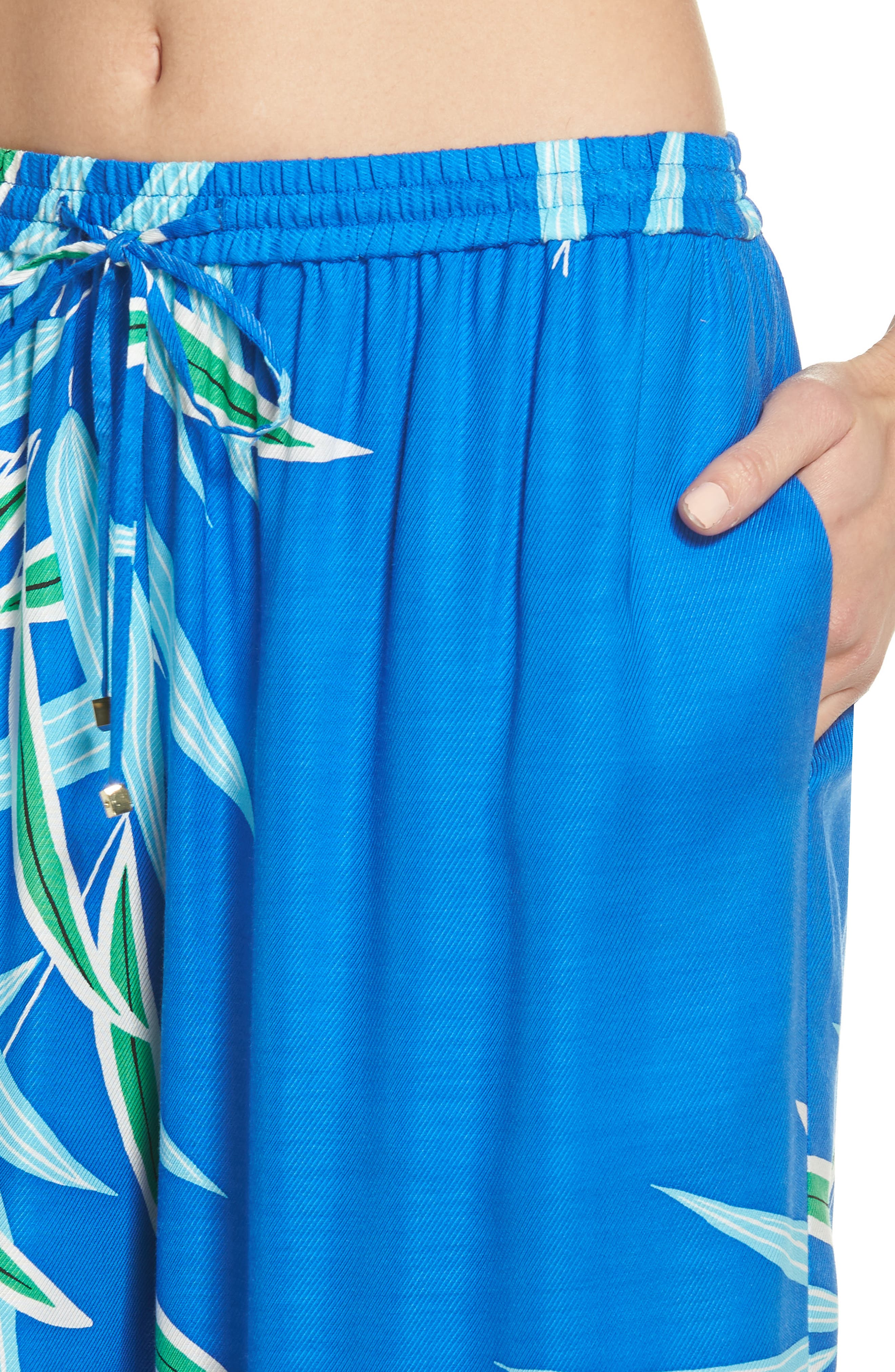 Beach Cover-Up Culottes,                             Alternate thumbnail 4, color,                             QUINCY BLUE
