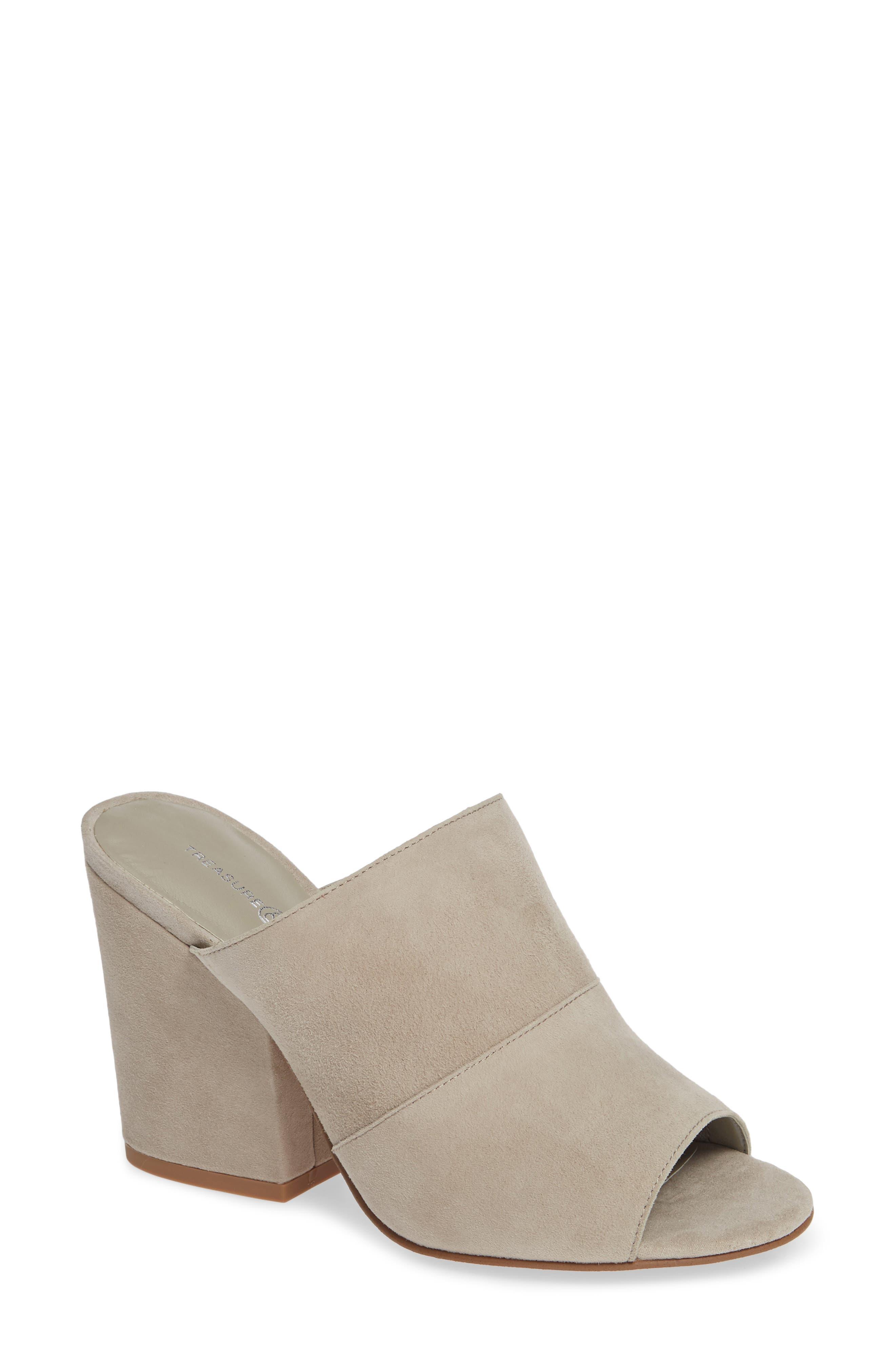 Gale Slide Sandal,                         Main,                         color, GREY SUEDE