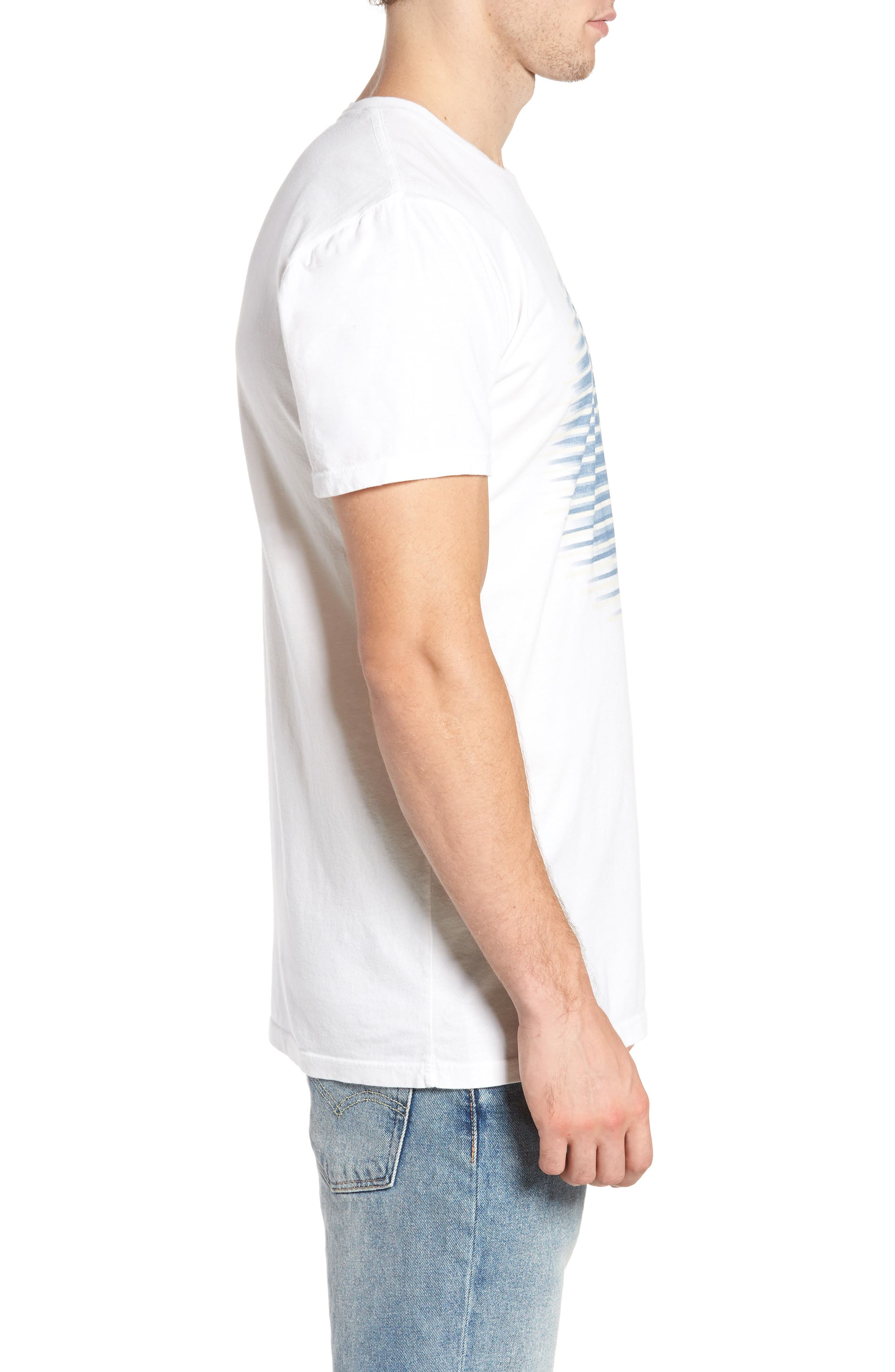 Lined Circle Graphic T-Shirt,                             Alternate thumbnail 3, color,                             100