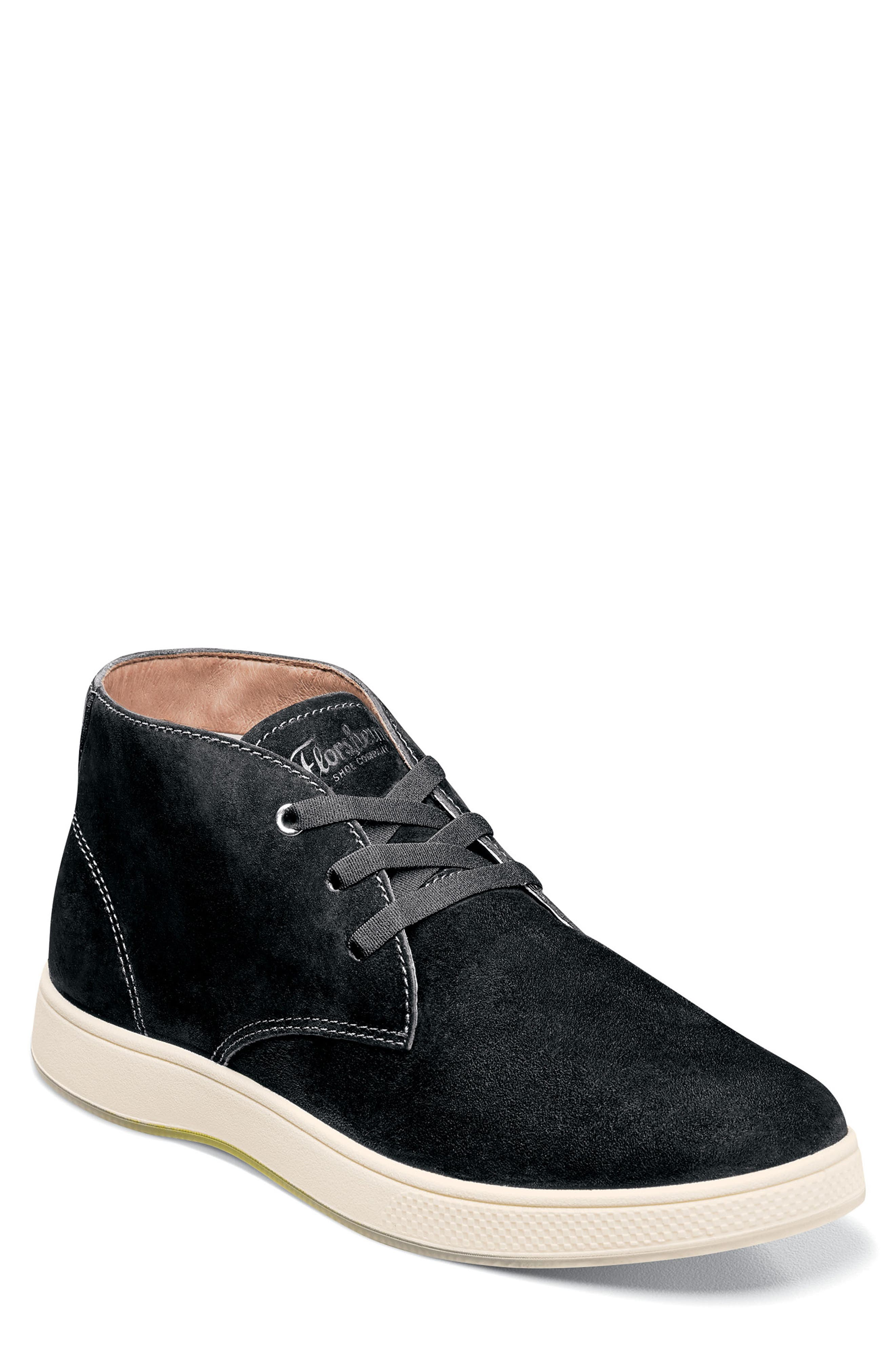 FLORSHEIM Edge Chukka Boot in Black Nubuck Leather