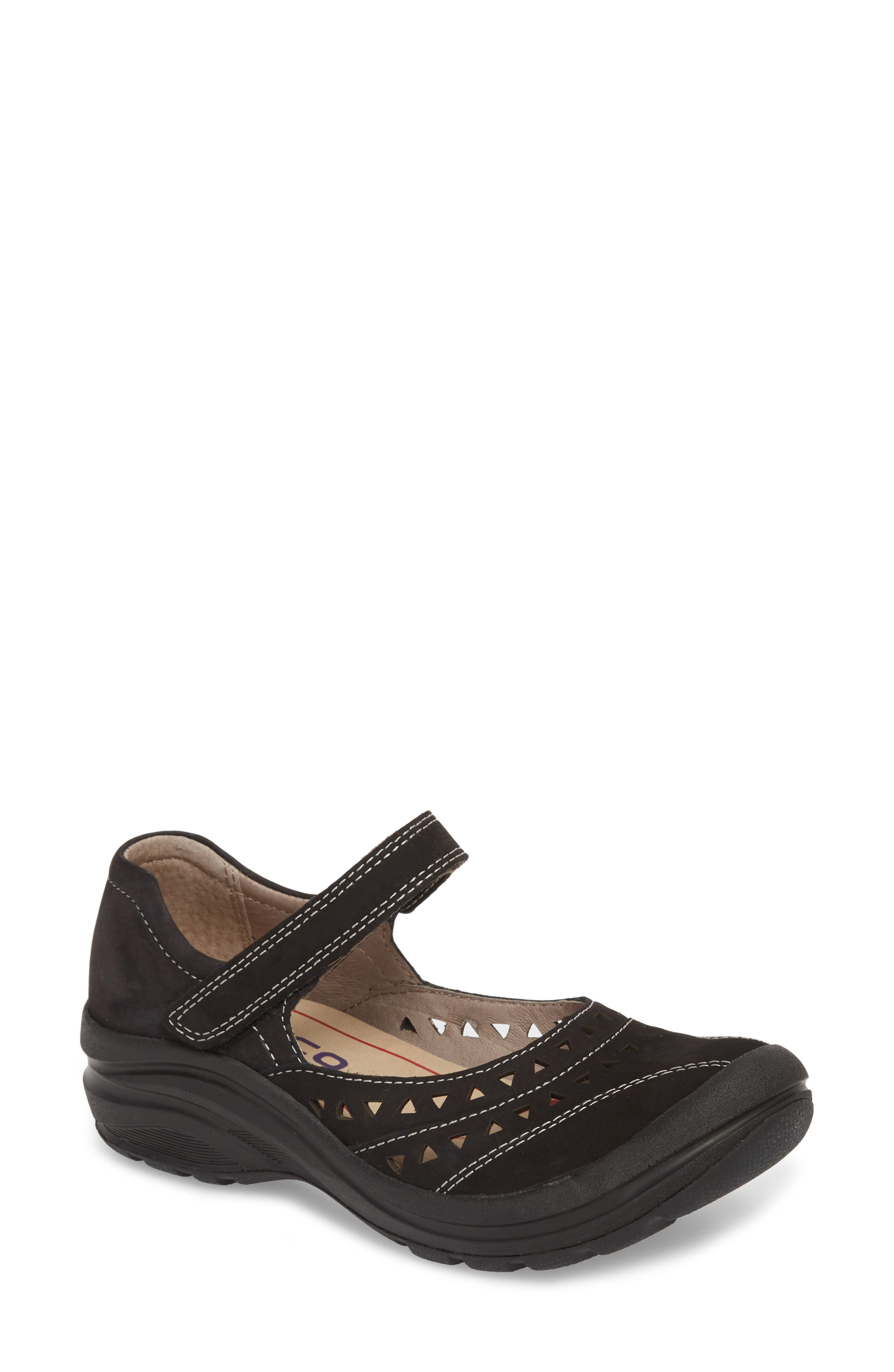 Matia Mary Jane Sneaker,                         Main,                         color, BLACK LEATHER