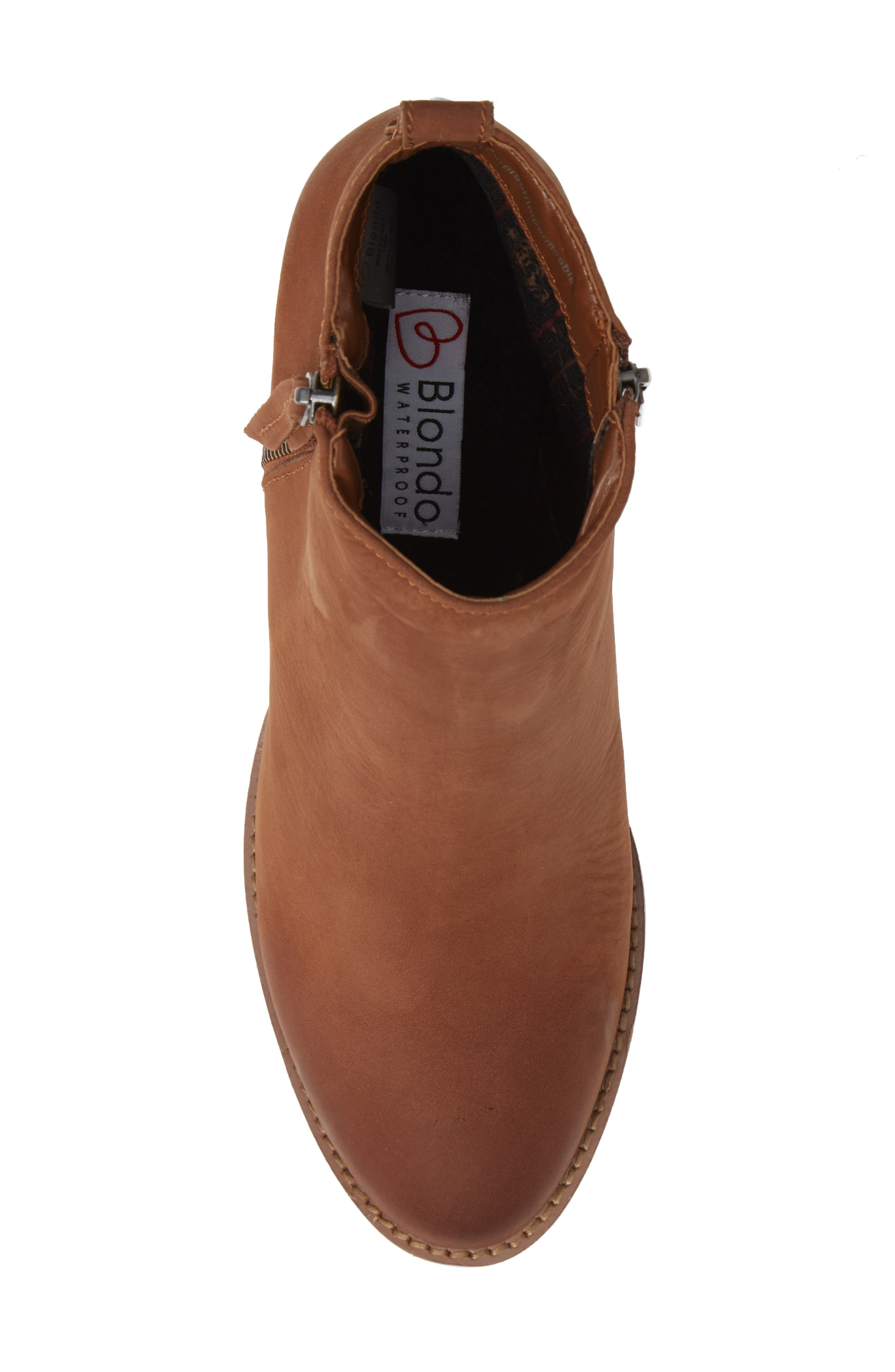 Nova Waterproof Bootie,                             Alternate thumbnail 5, color,                             COGNAC NUBUCK