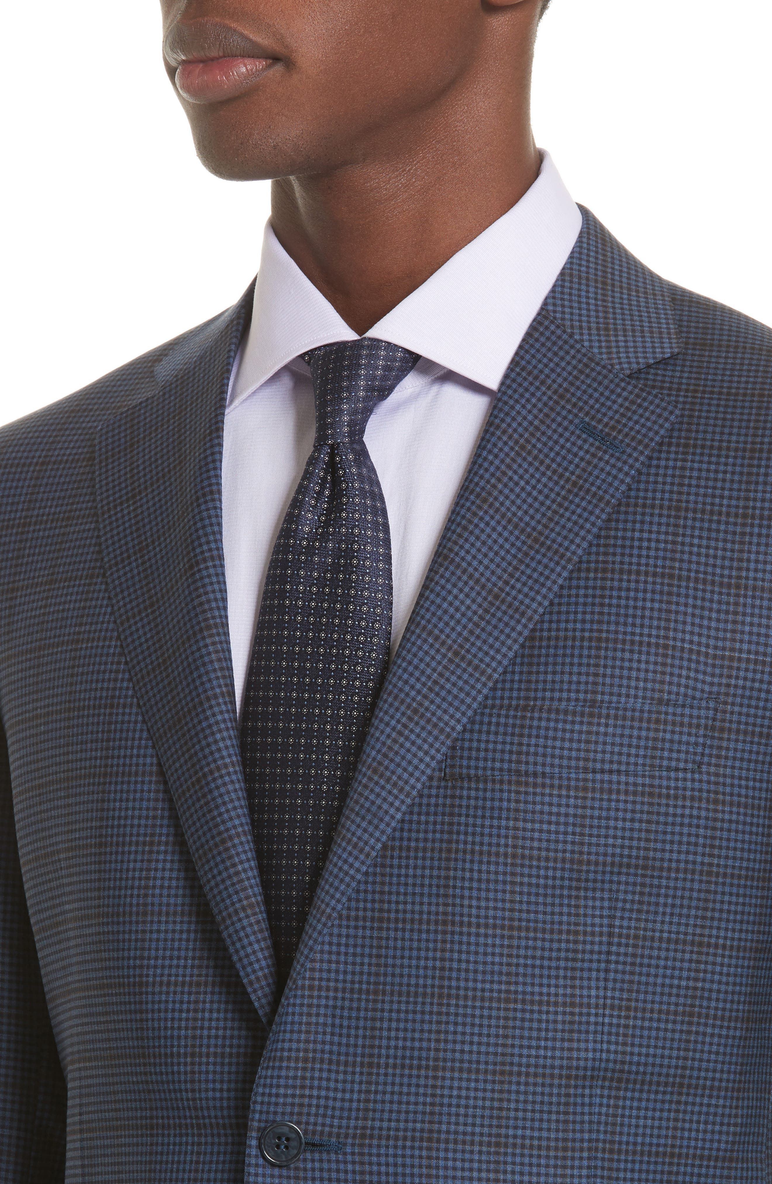 Classic Fit Check Wool Sport Coat,                             Alternate thumbnail 4, color,                             410