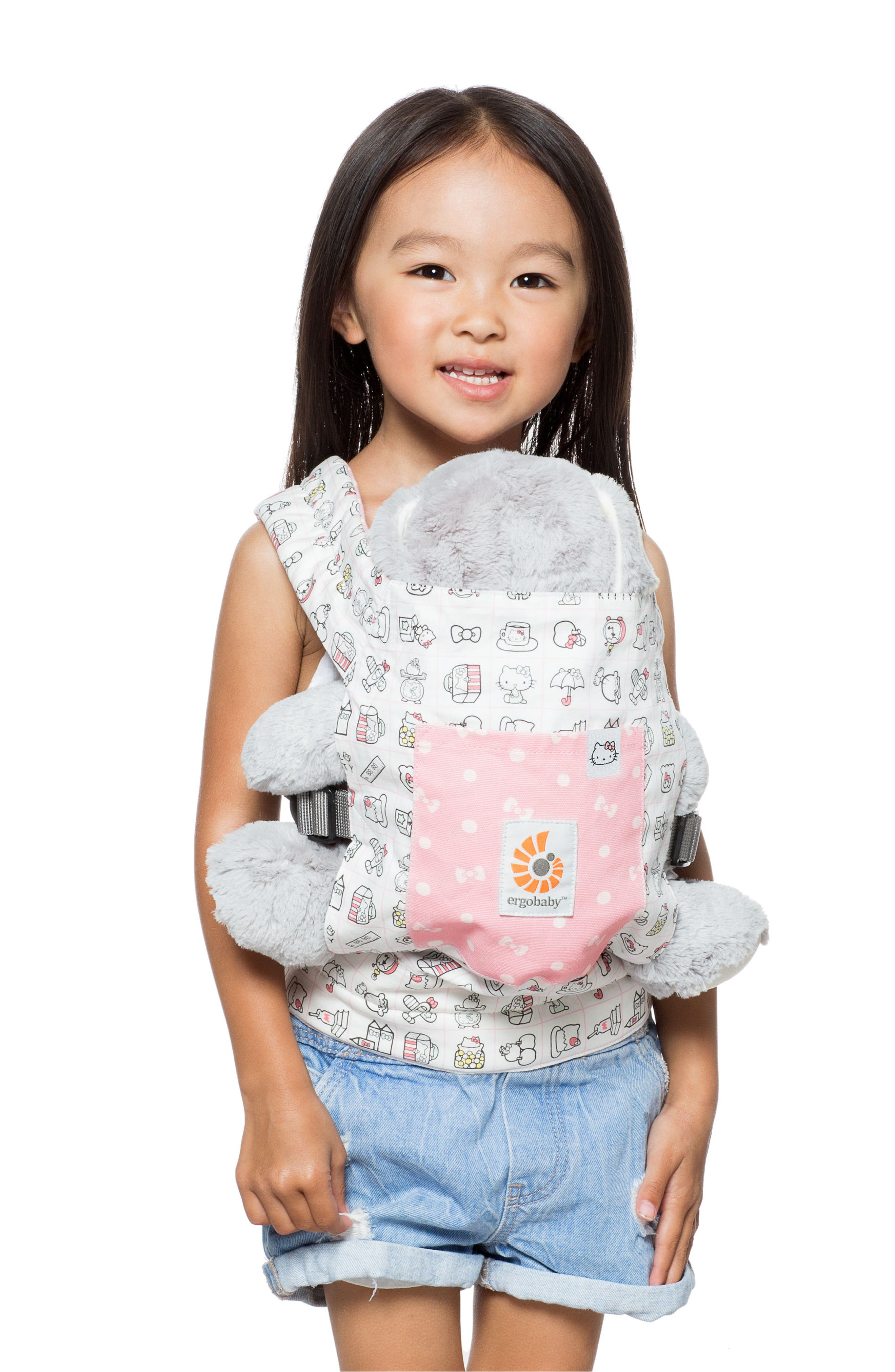 x Hello Kitty<sup>®</sup> Doll Carrier,                             Alternate thumbnail 3, color,                             DOODLES