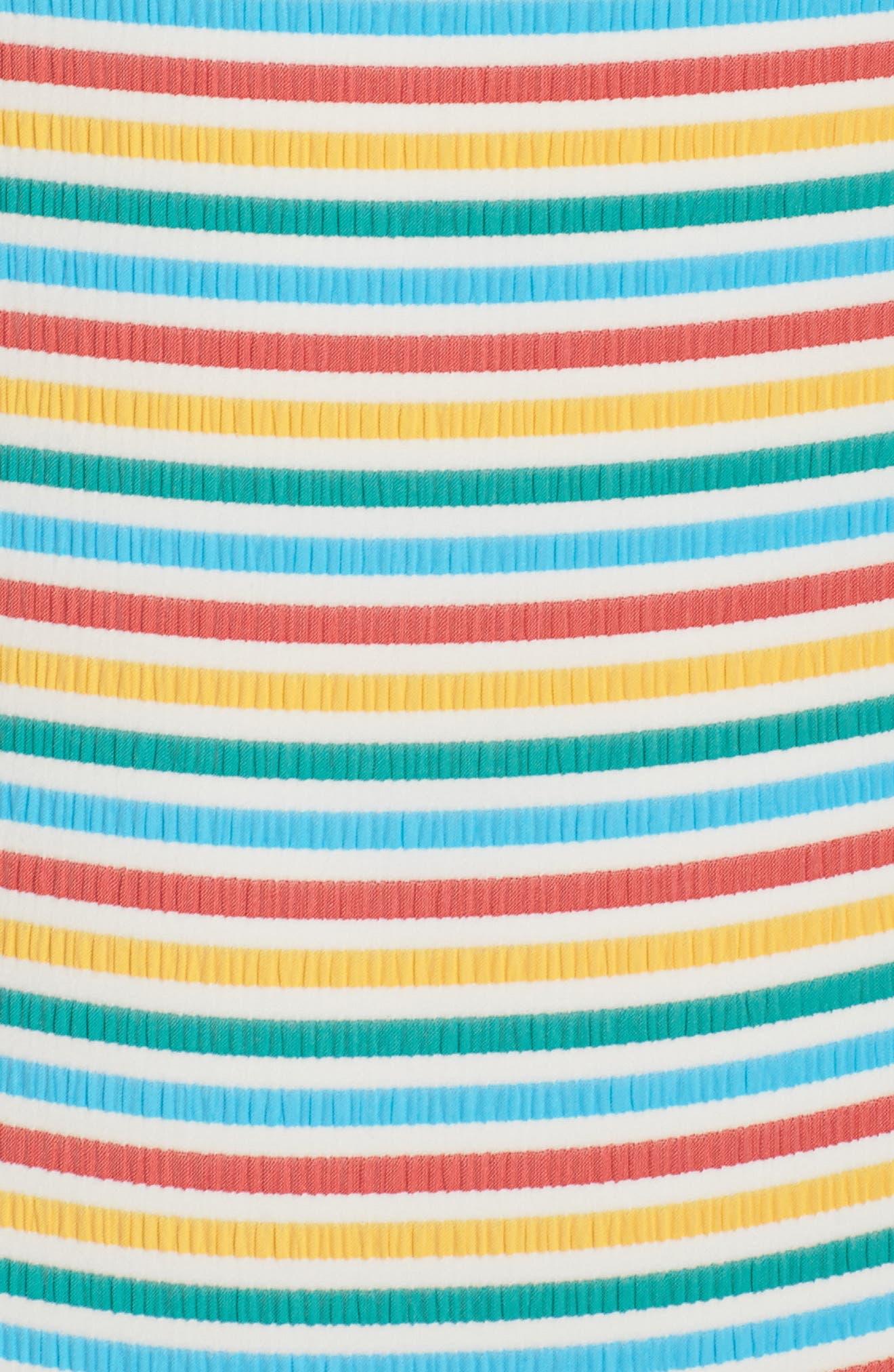 Stripe Low Back One-Piece Swimsuit,                             Alternate thumbnail 5, color,                             700