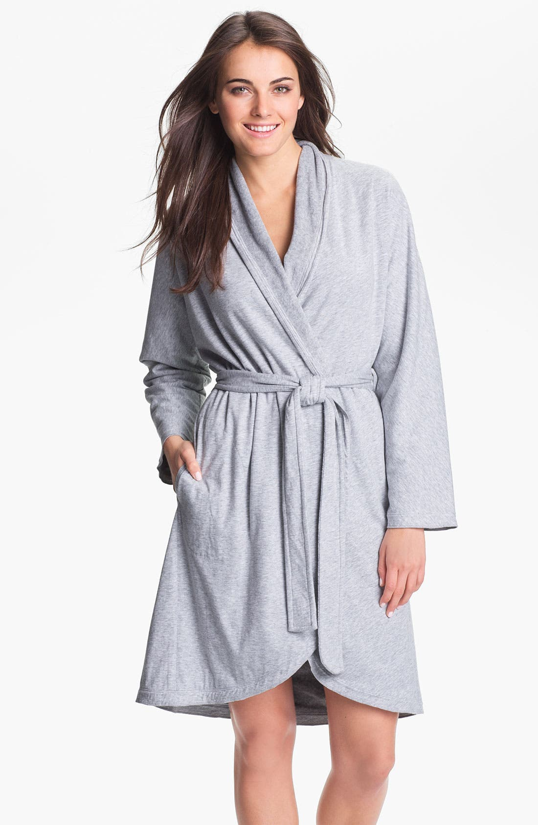 Donna Karan 'Casual Luxe' Robe,                             Main thumbnail 1, color,                             060