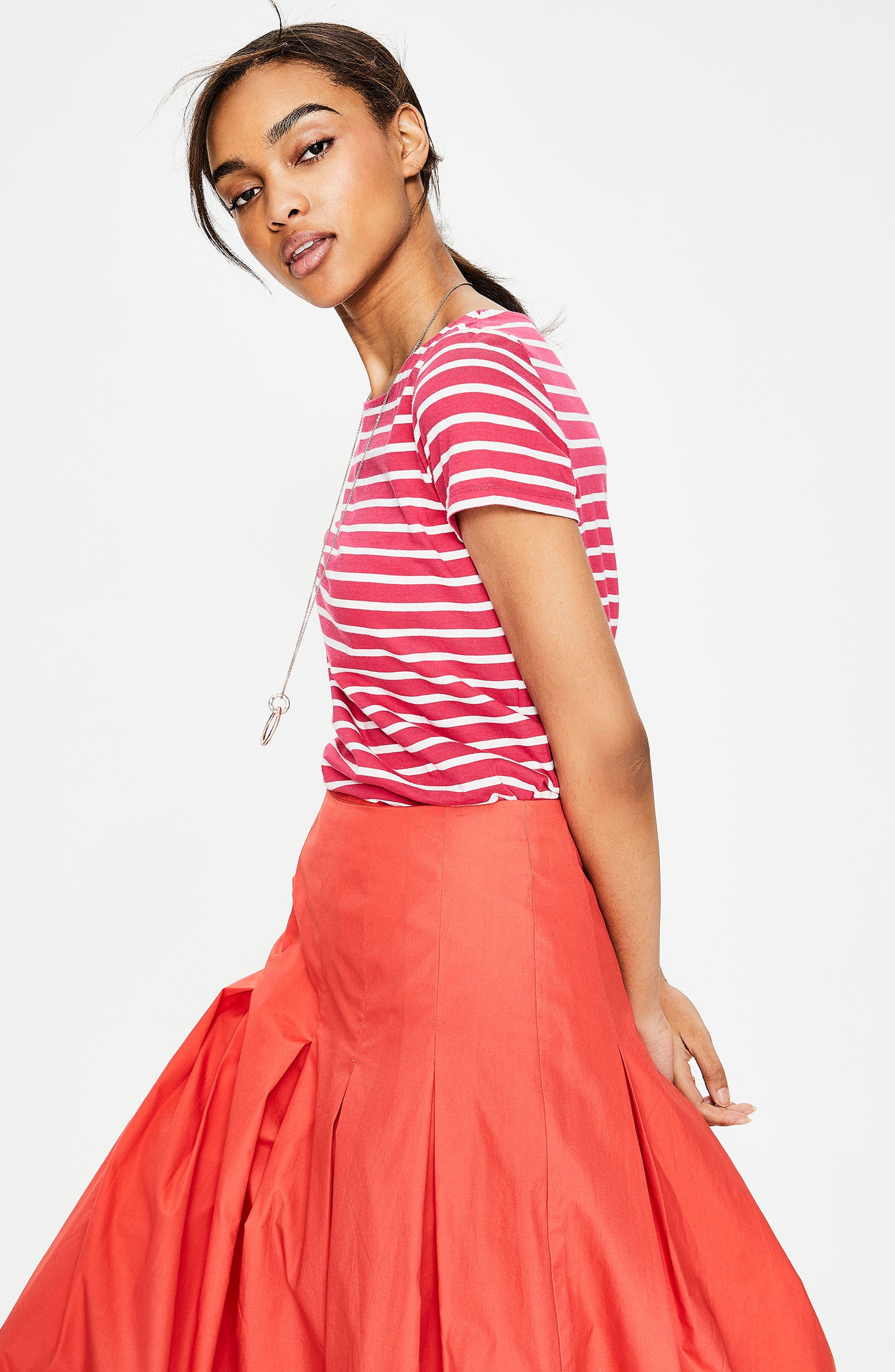 Breton Short Sleeve Stripe Cotton Top,                             Alternate thumbnail 18, color,