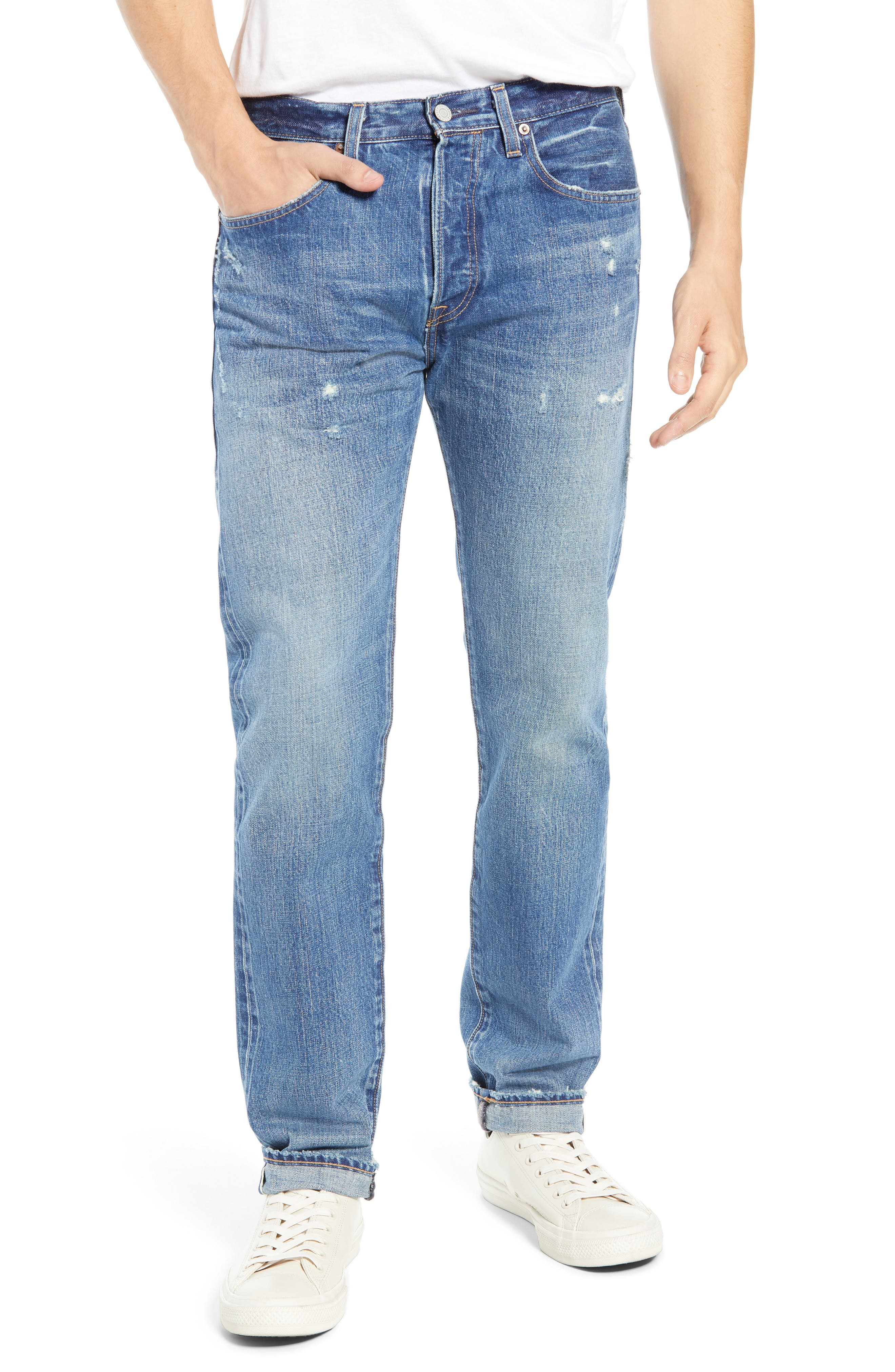 Levi's<sup>®</sup> Made & Crafted 501<sup>™</sup> Slim Fit Tapered Jeans,                             Main thumbnail 1, color,                             FOREVER