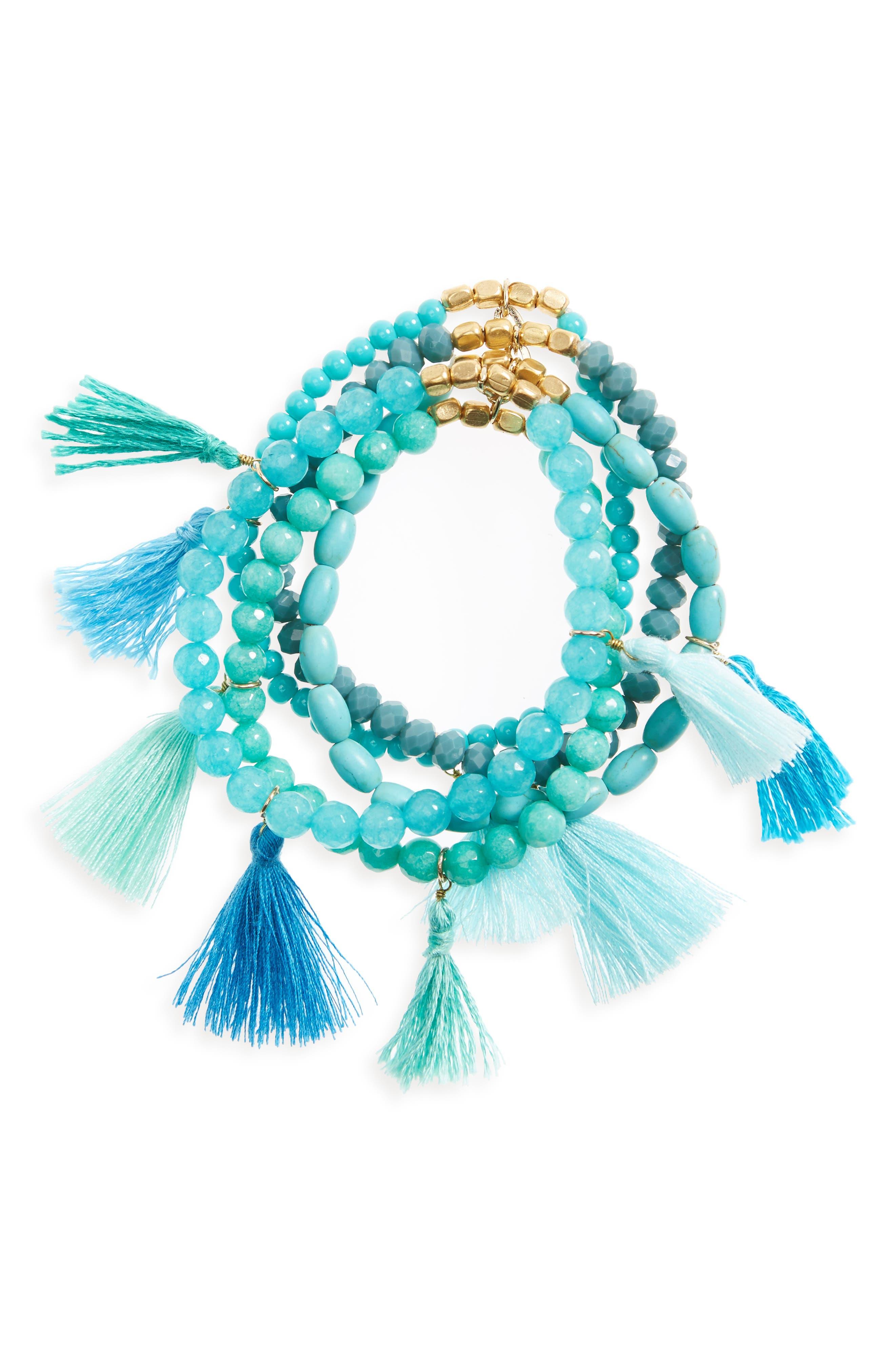 Multistrand Tassel Bracelet, Main, color, 400