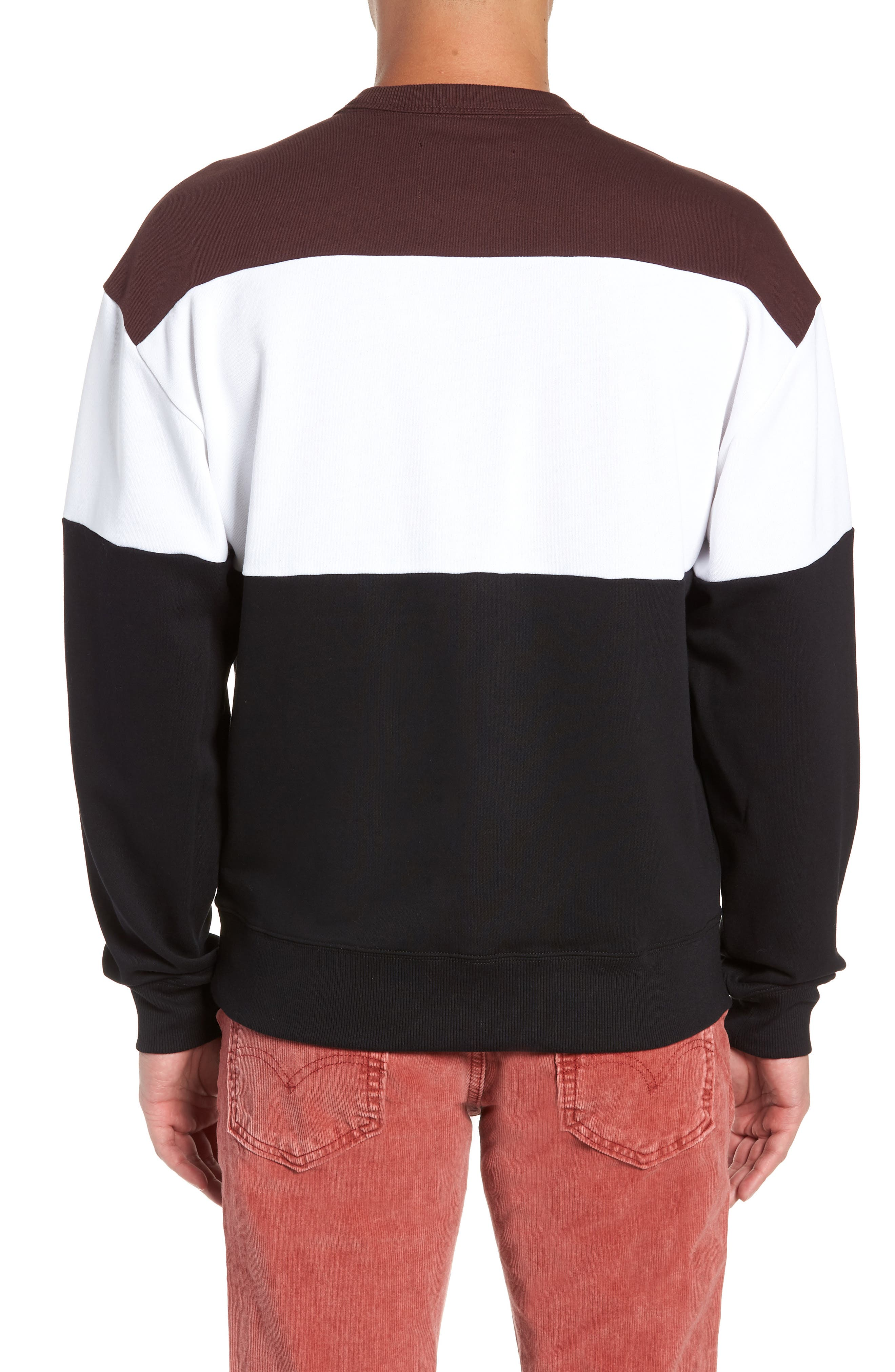 Libe Core Colorblock Sweatshirt,                             Alternate thumbnail 2, color,                             001