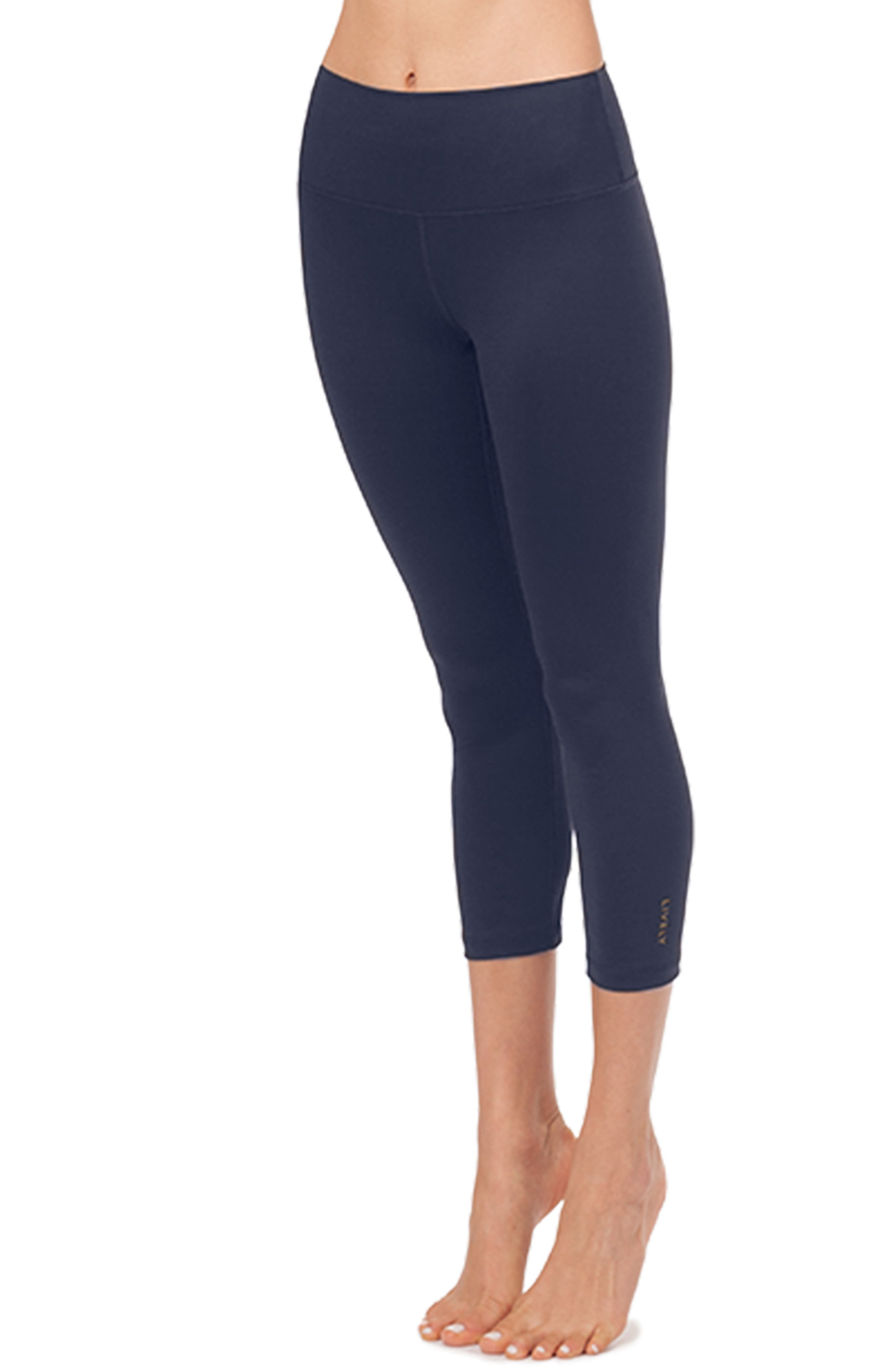 Lively The Active High Waist Crop Leggings, Blue